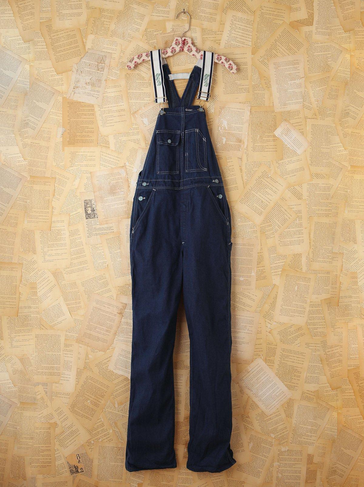 Vintage Dark Blue Denim Overalls