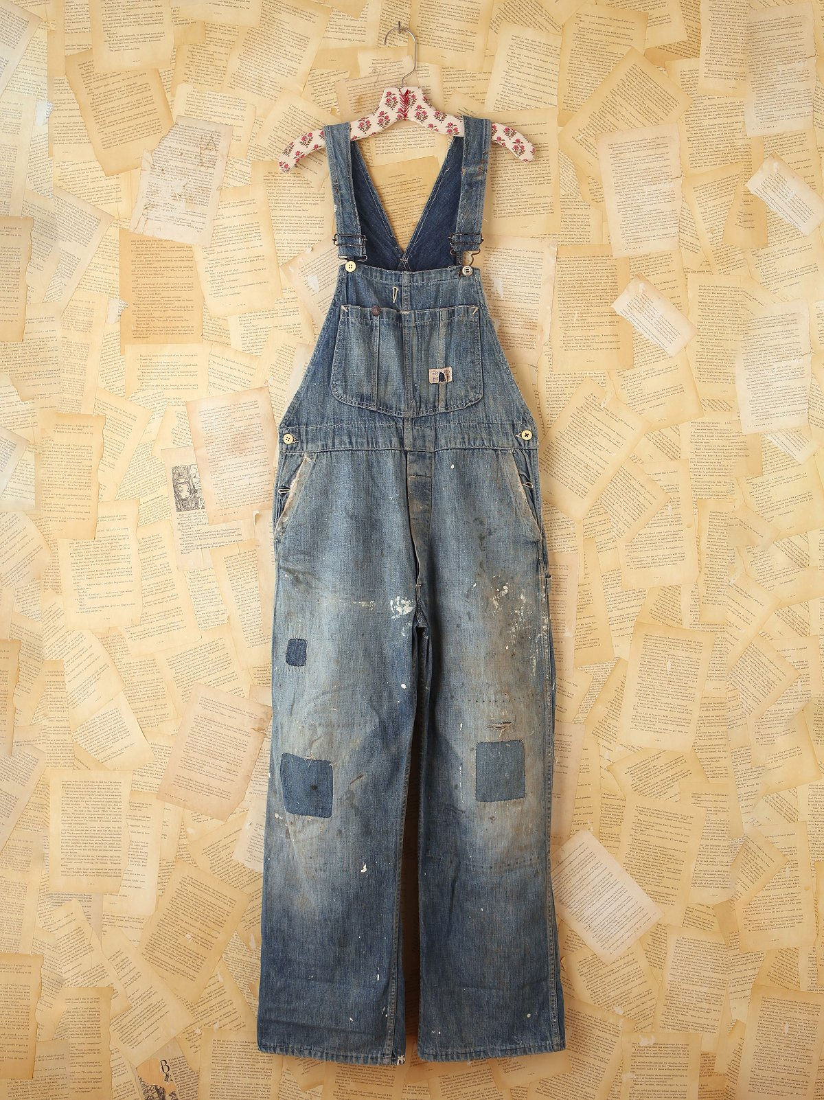 Vintage 1940s Big Smith Patched Overalls