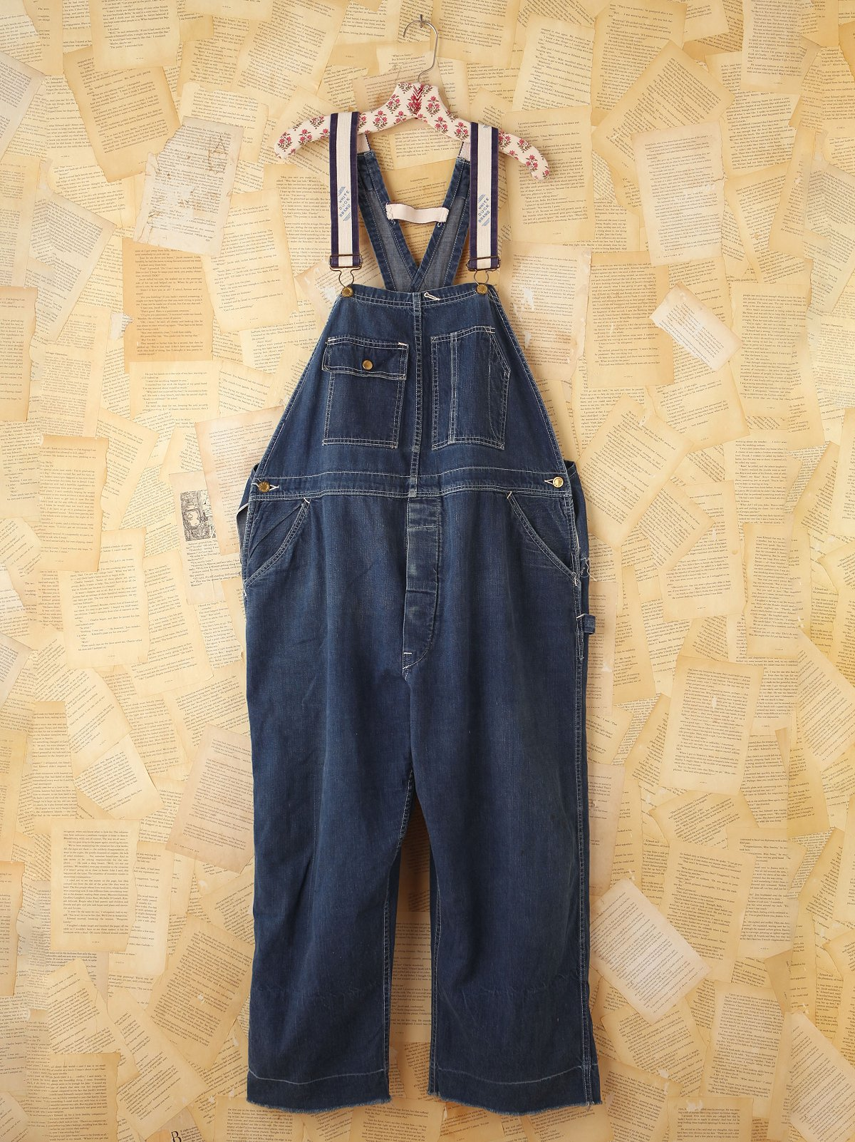 Vintage White Buck Denim Overalls