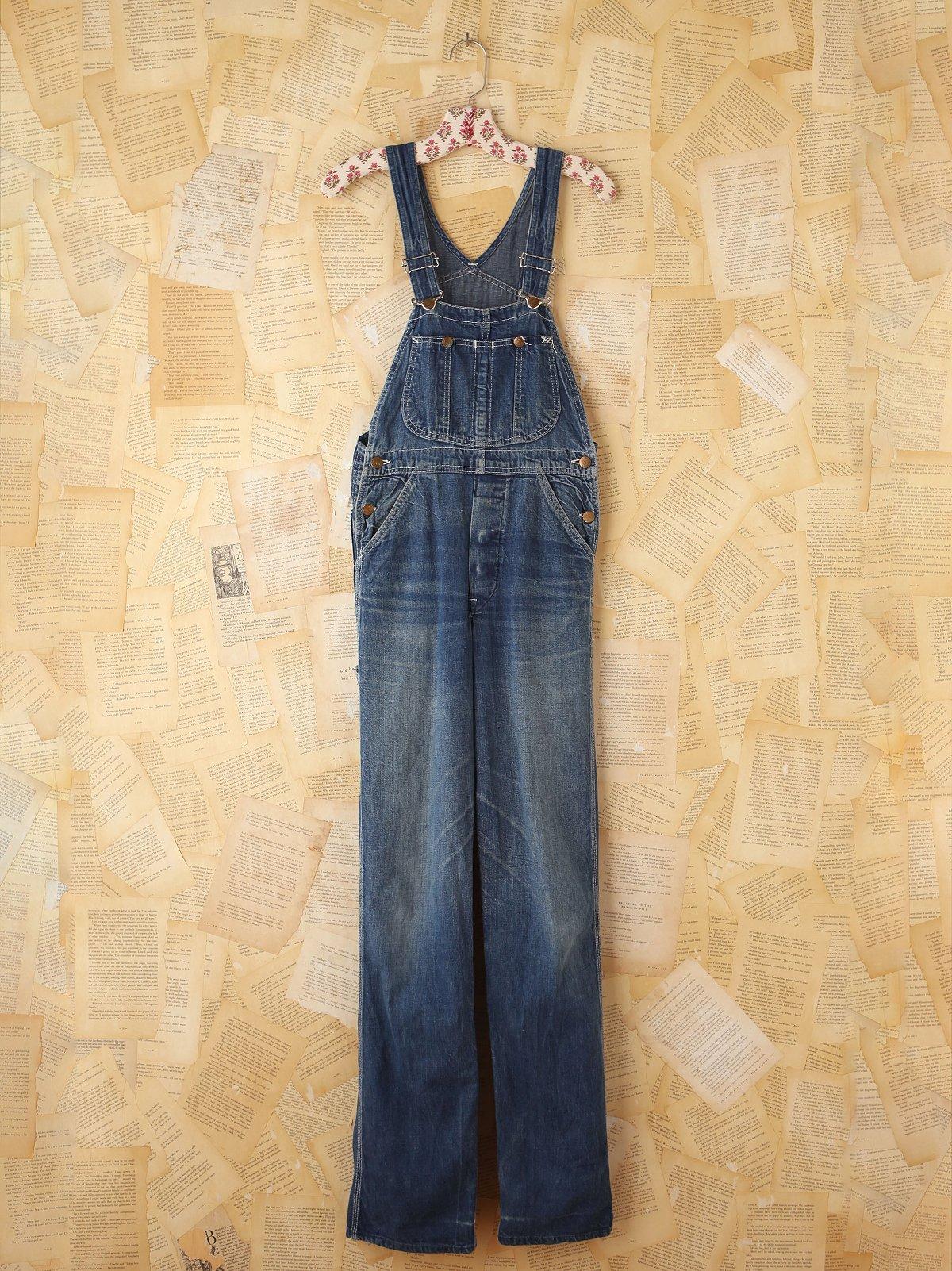 Vintage Lee Dark Blue Denim Overalls