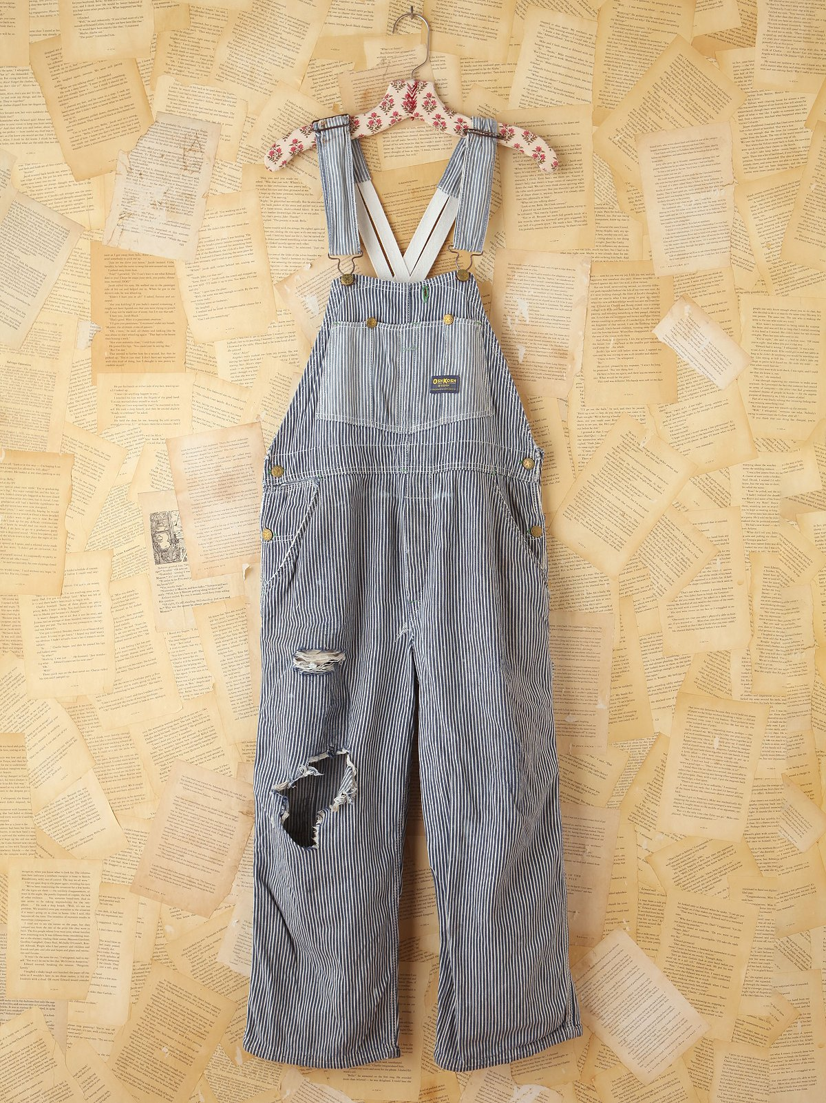 Vintage Osh Kosh Striped Denim Overall