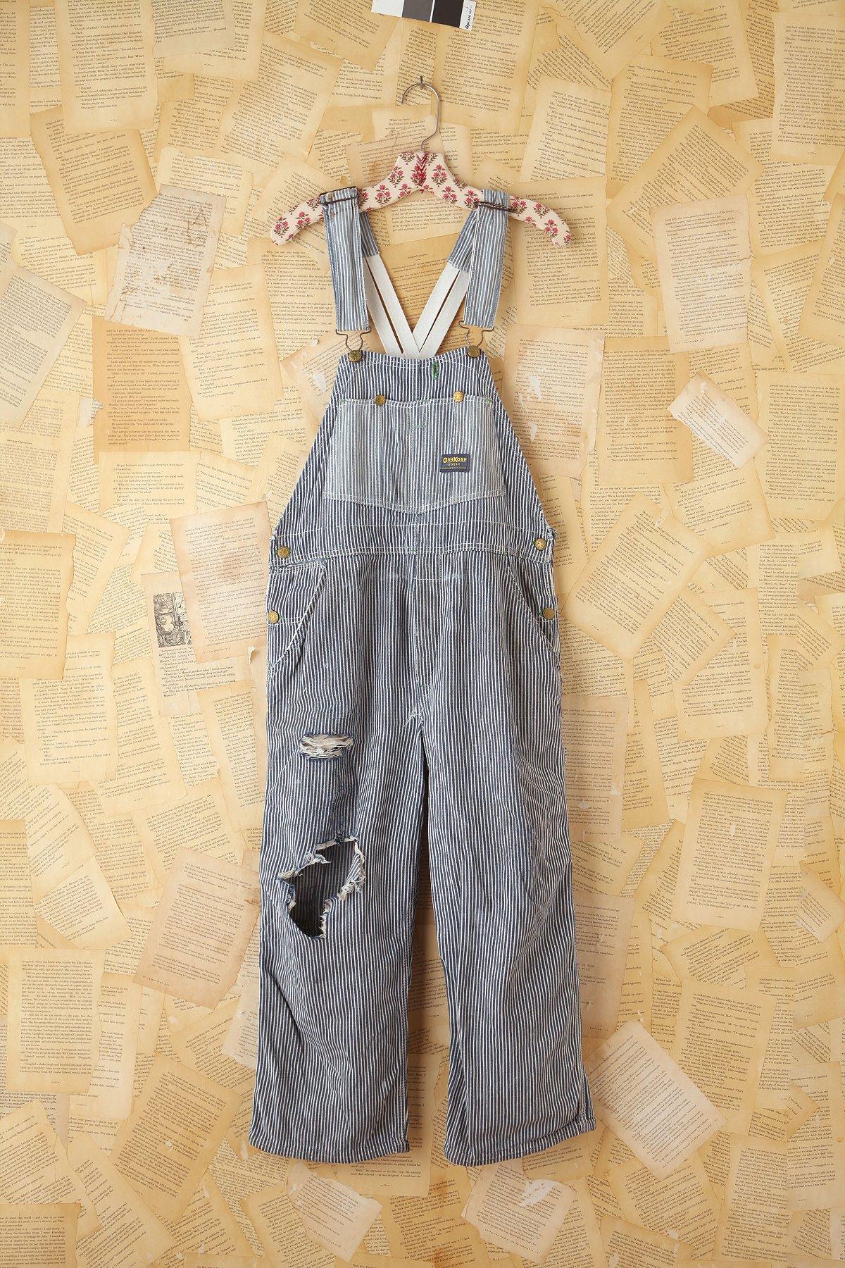 Vintage Osh Kosh Striped Denim Overall