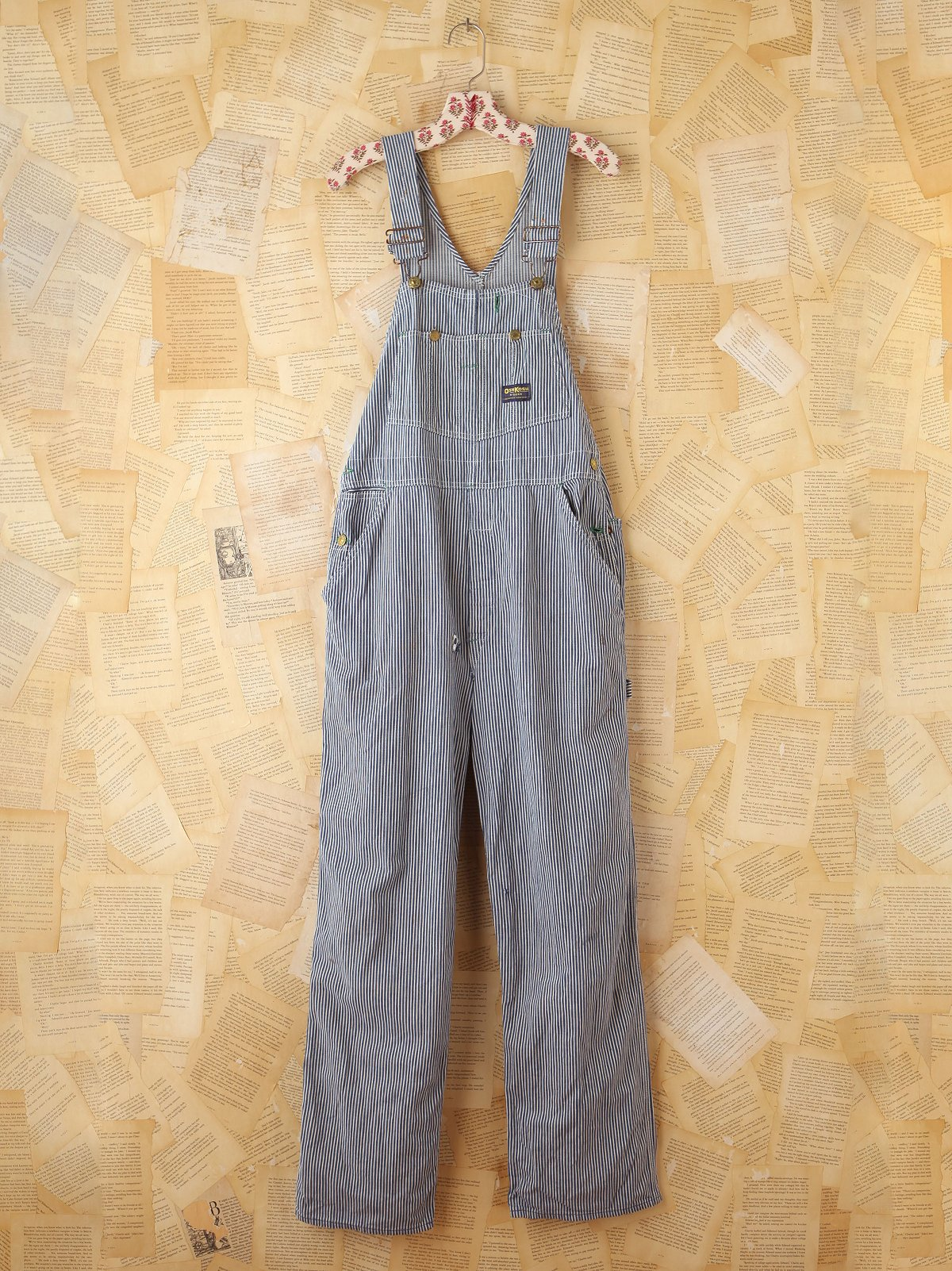Vintage Osh Kosh Railroad Striped Overalls