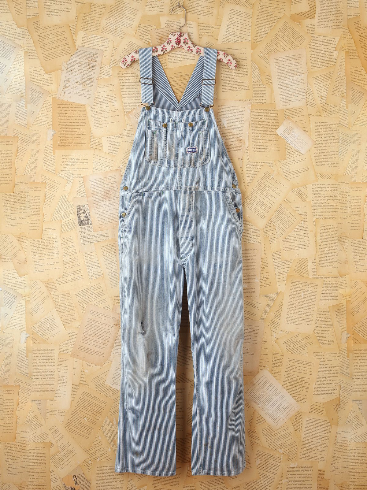 Vintage Bob Smith Striped Denim Overalls