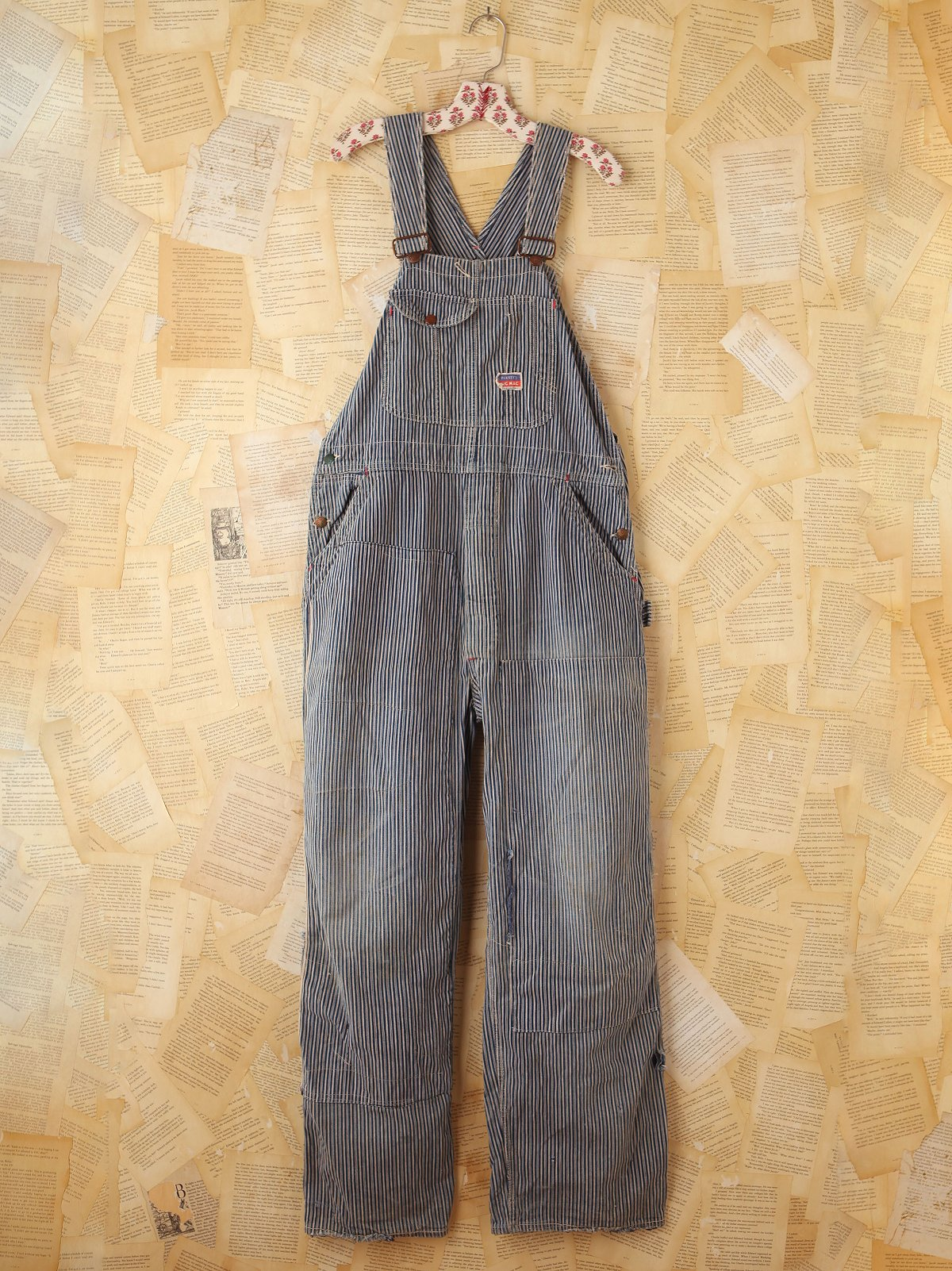 Vintage Big Mac Railroad Striped Overalls