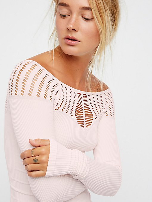 Product Image: Cut Out Neck Long Sleeve Top