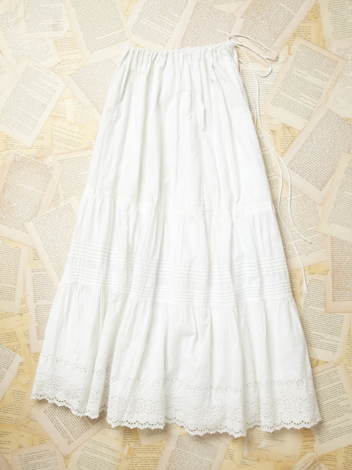 Vintage 1900s Tiered Victorian Petticoat