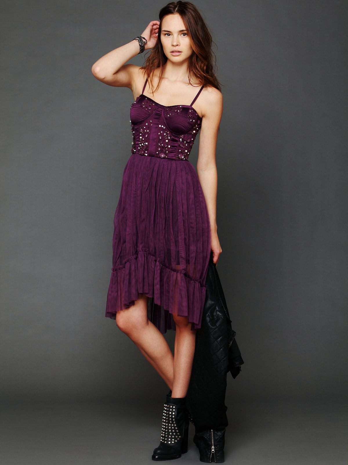 High Low Embellished Slip