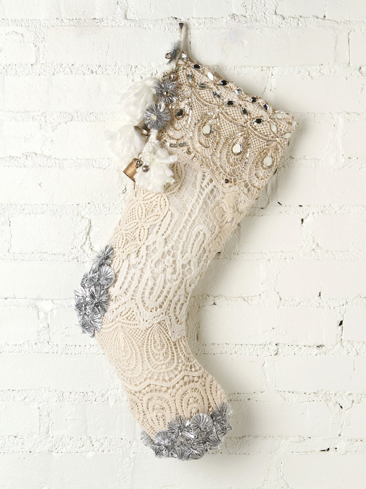 FP ONE Tinsel and Lace Stocking