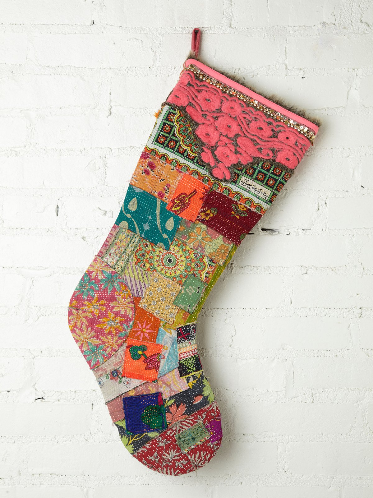 FP One Big Vintage Quilted Holiday Stocking