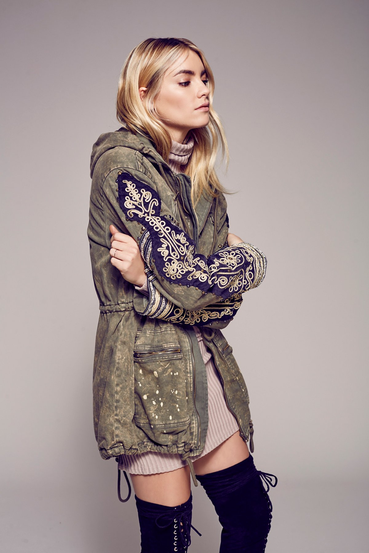 Golden Quills Military Parka
