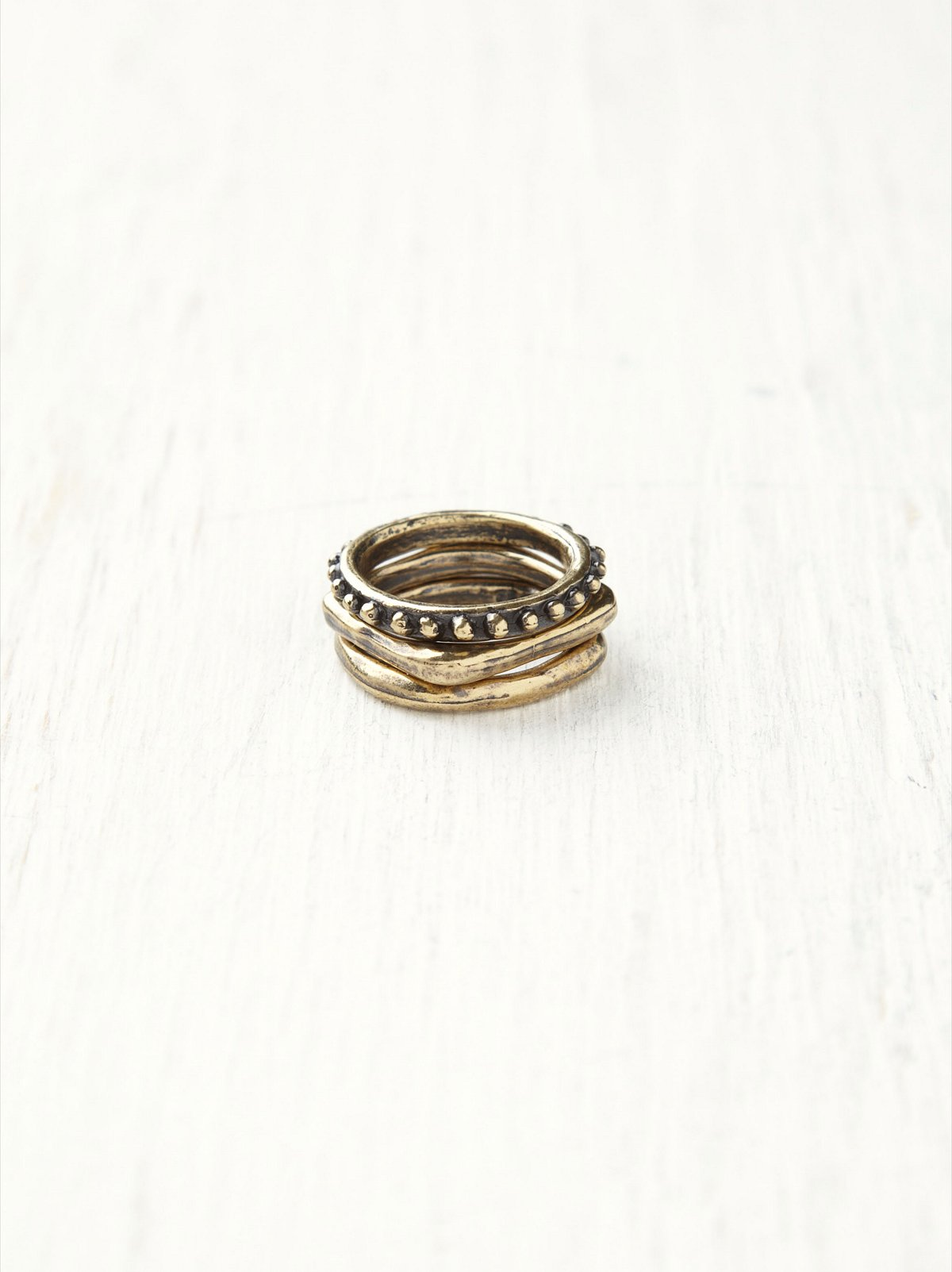 Gilded Stacked Rings