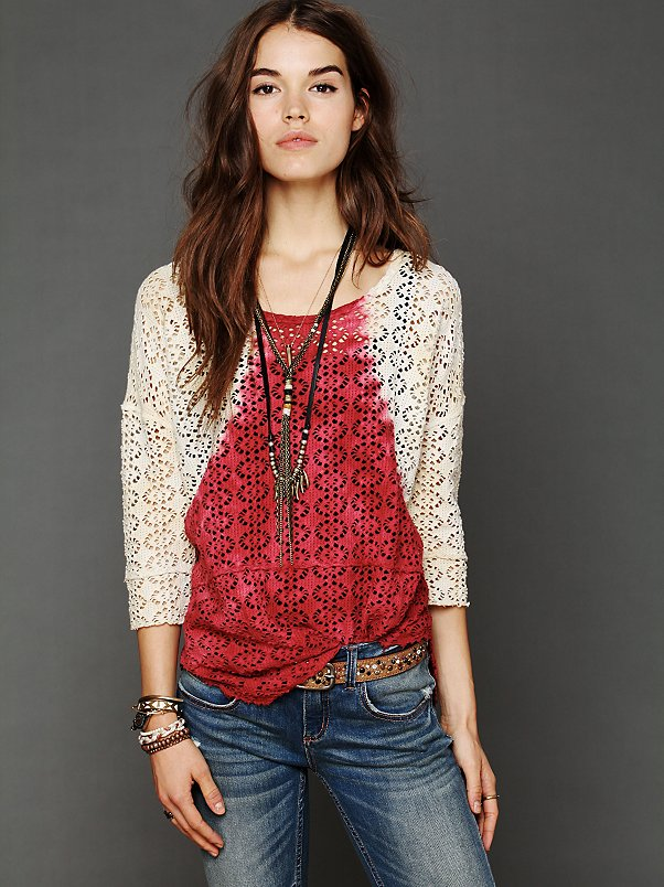 We The Free Crochet Love Raglan