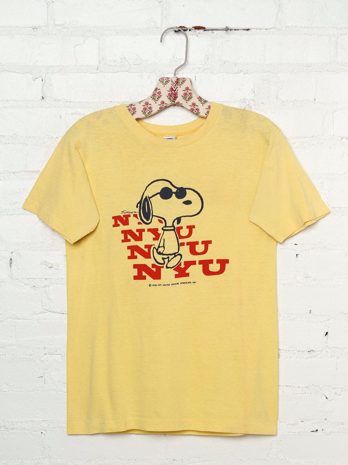Vintage NYU Snoopy Tee