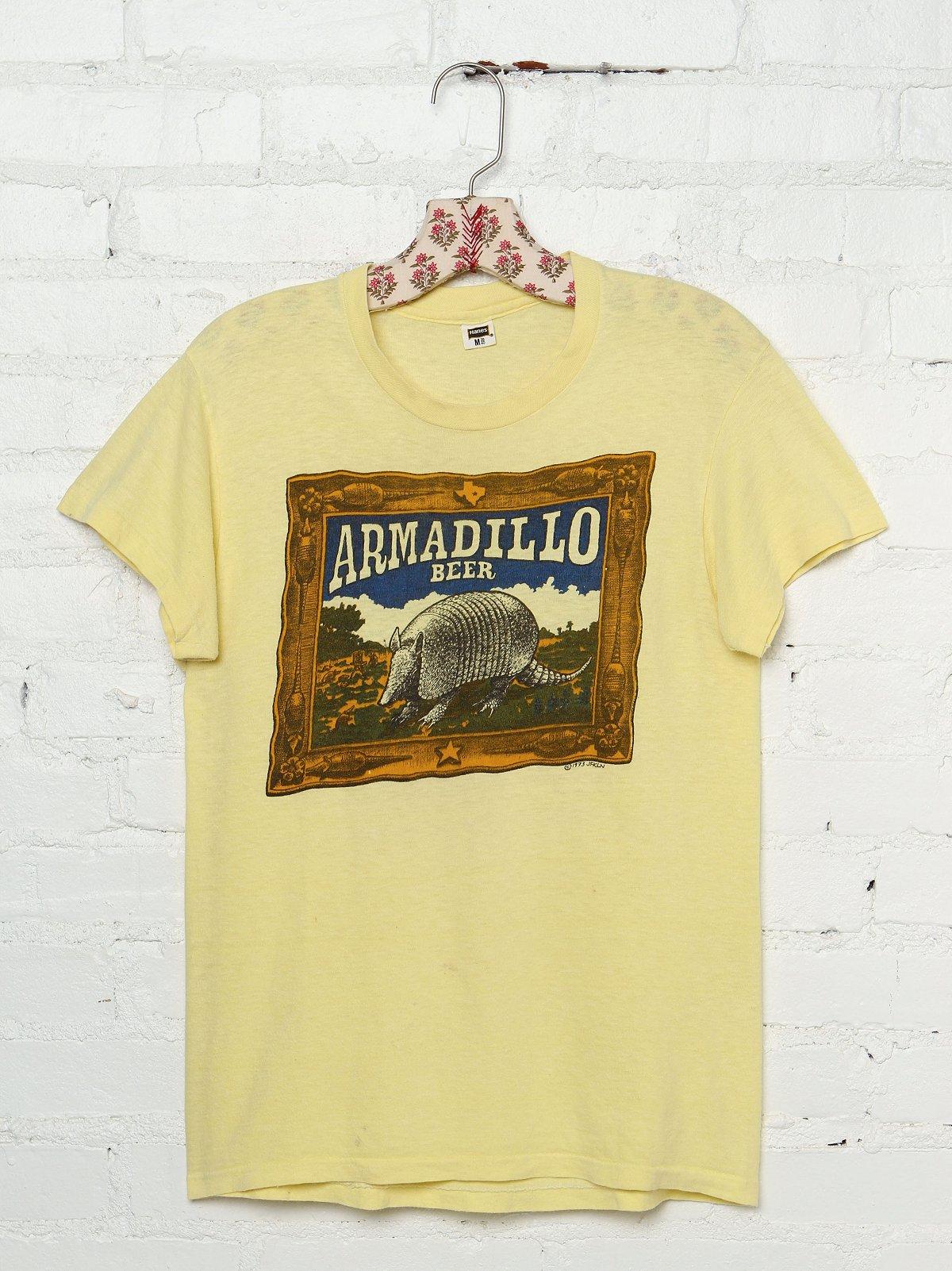 Vintage Armadillo Beer Graphic Tee