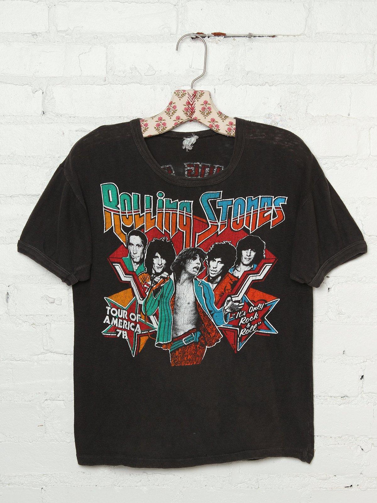 Vintage Rolling Stones Tour of America Tee