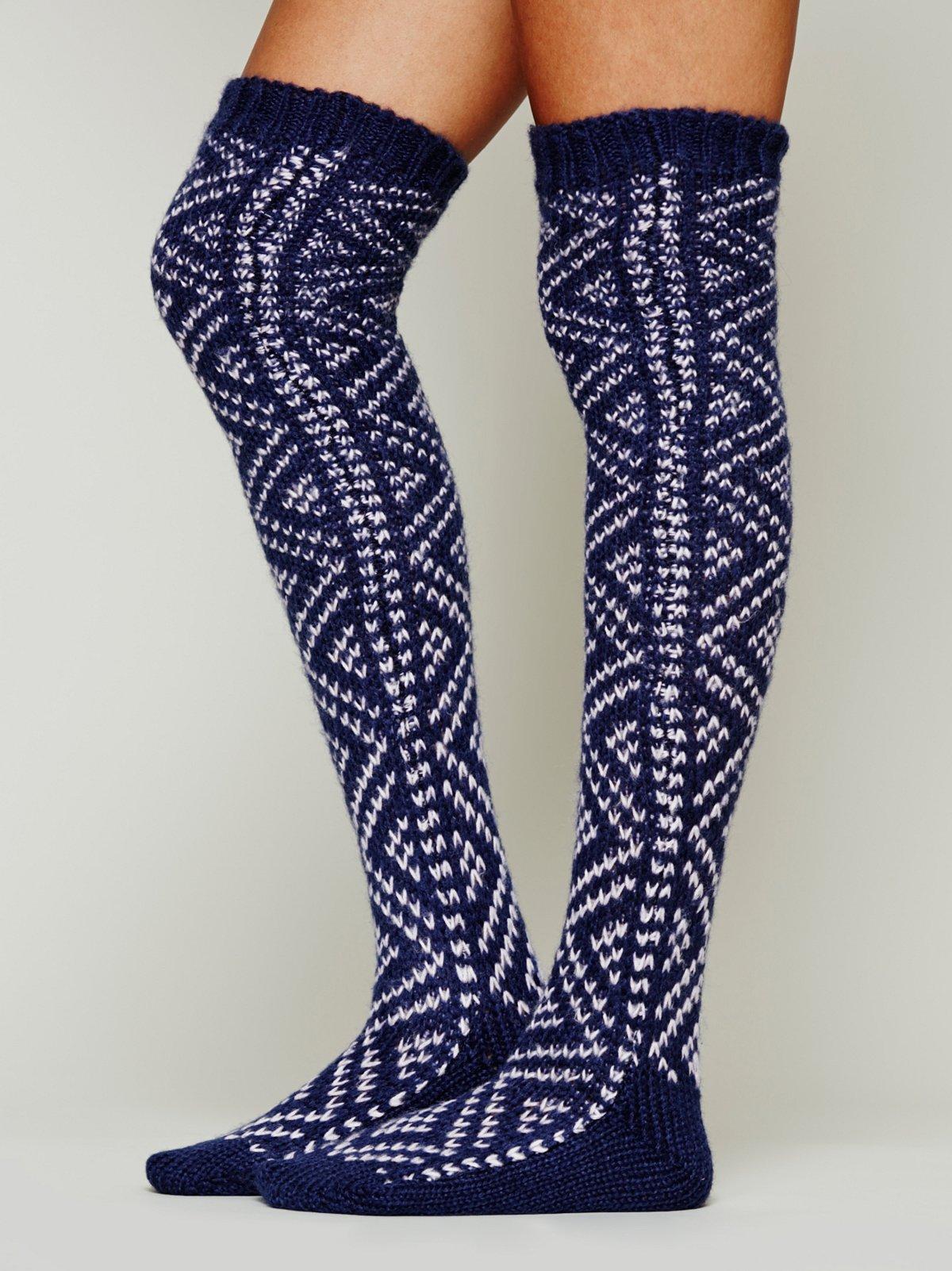 Peruvian Thigh High Sock