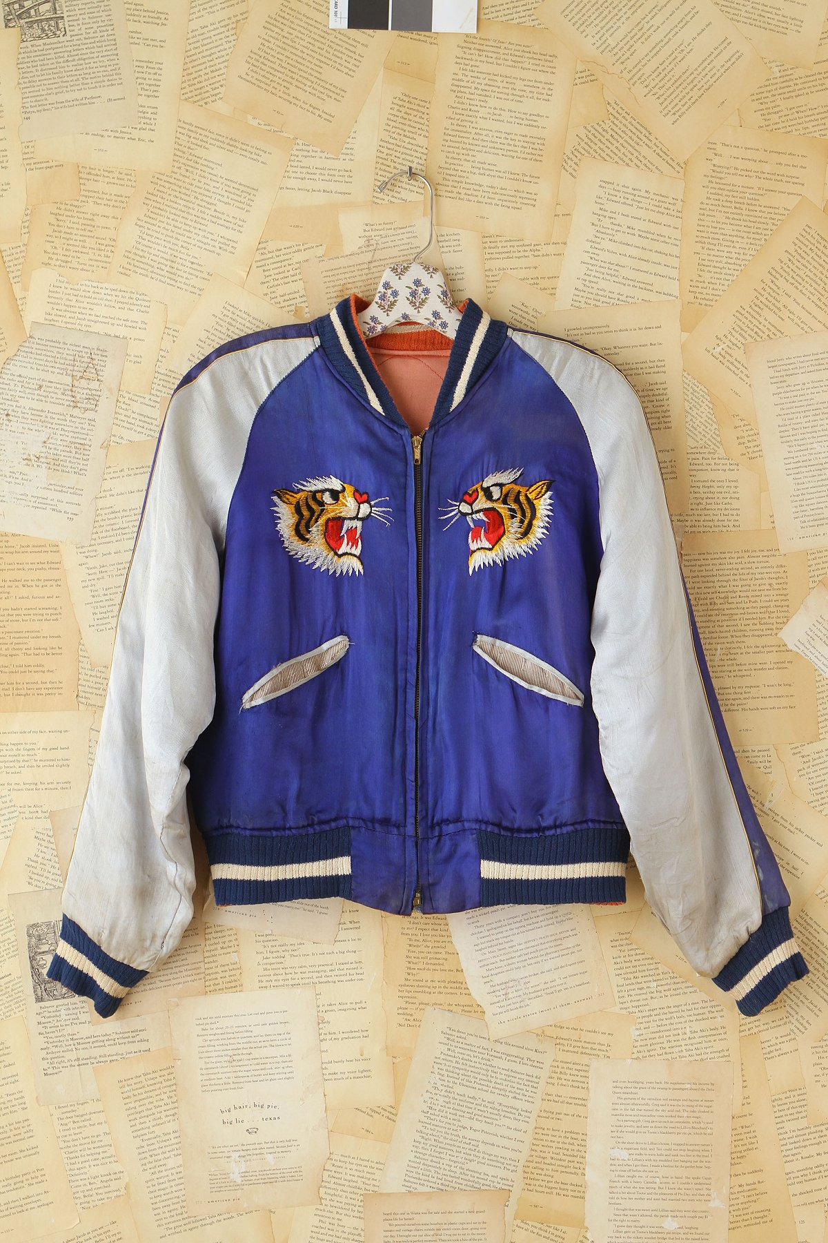 Vintage 1950s Reversible Embroidered Satin Jacket