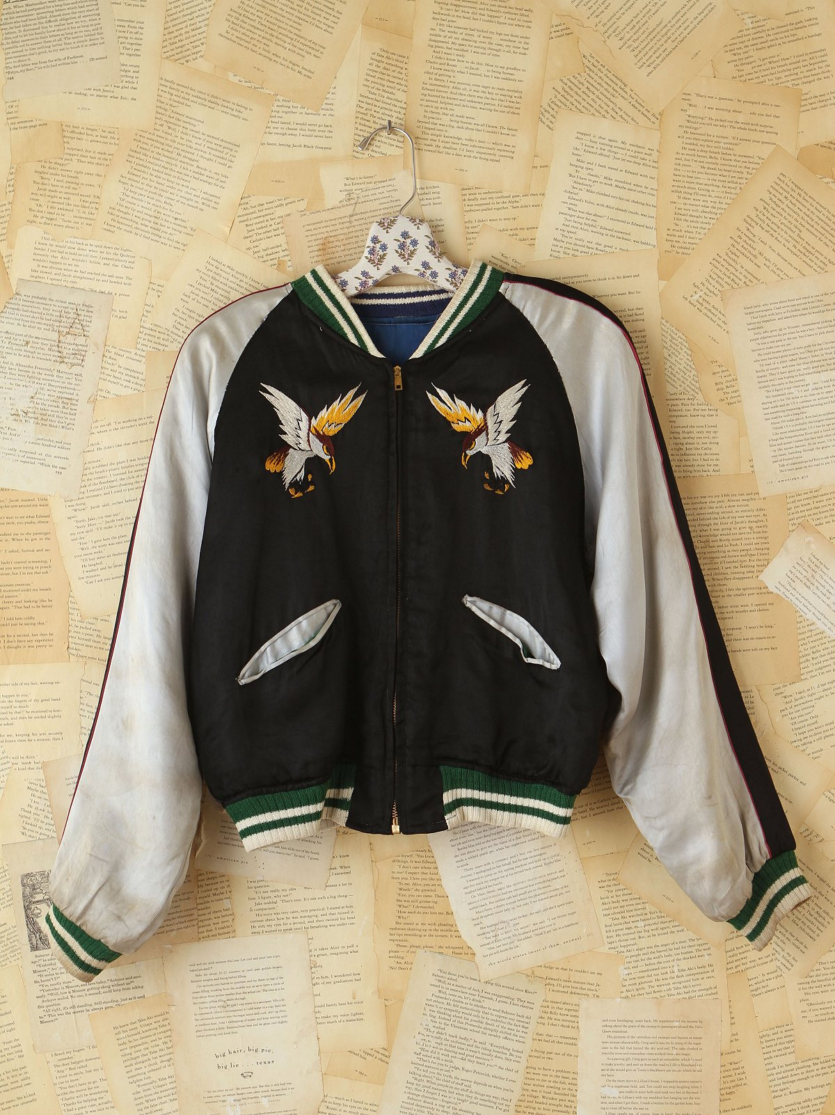 Vintage 1950s Reversible Embroidered Satin Jacket