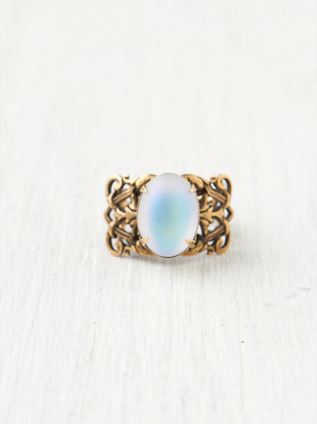 Ornate Moonstone Ring