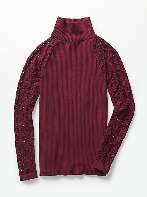 Product Image: Rib and Lace Turtleneck