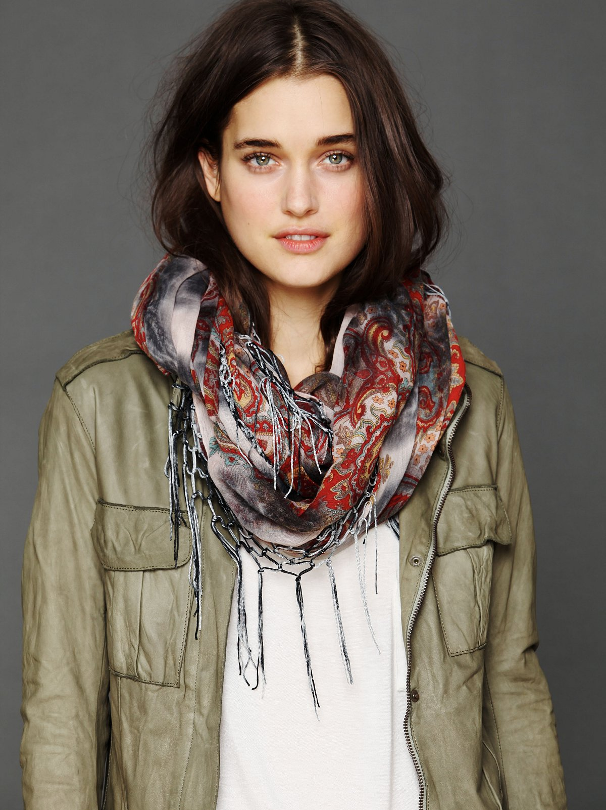 Paisley Tie Dyed Scarf