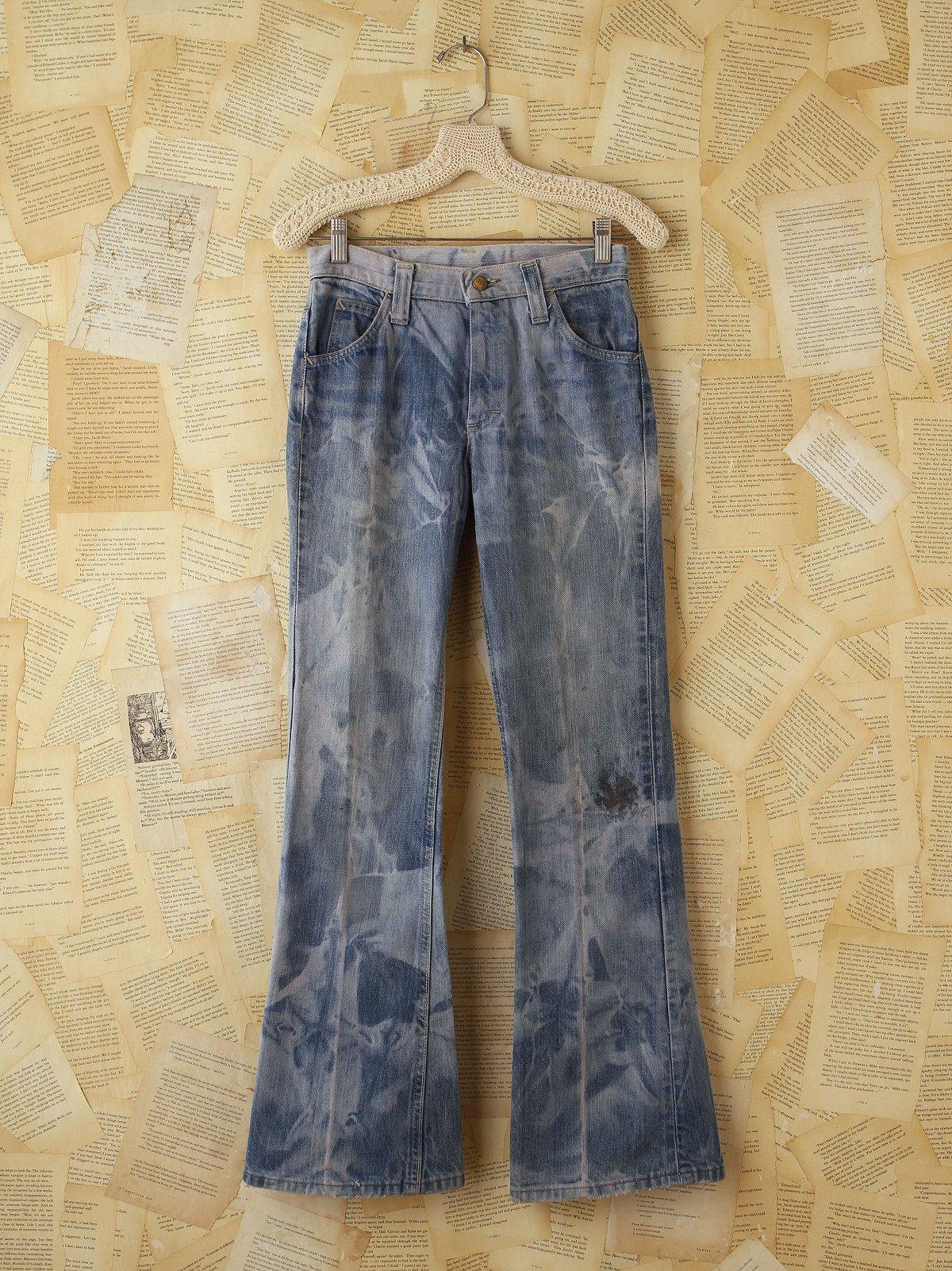Vintage Tie Dyed Lee Flare Jeans