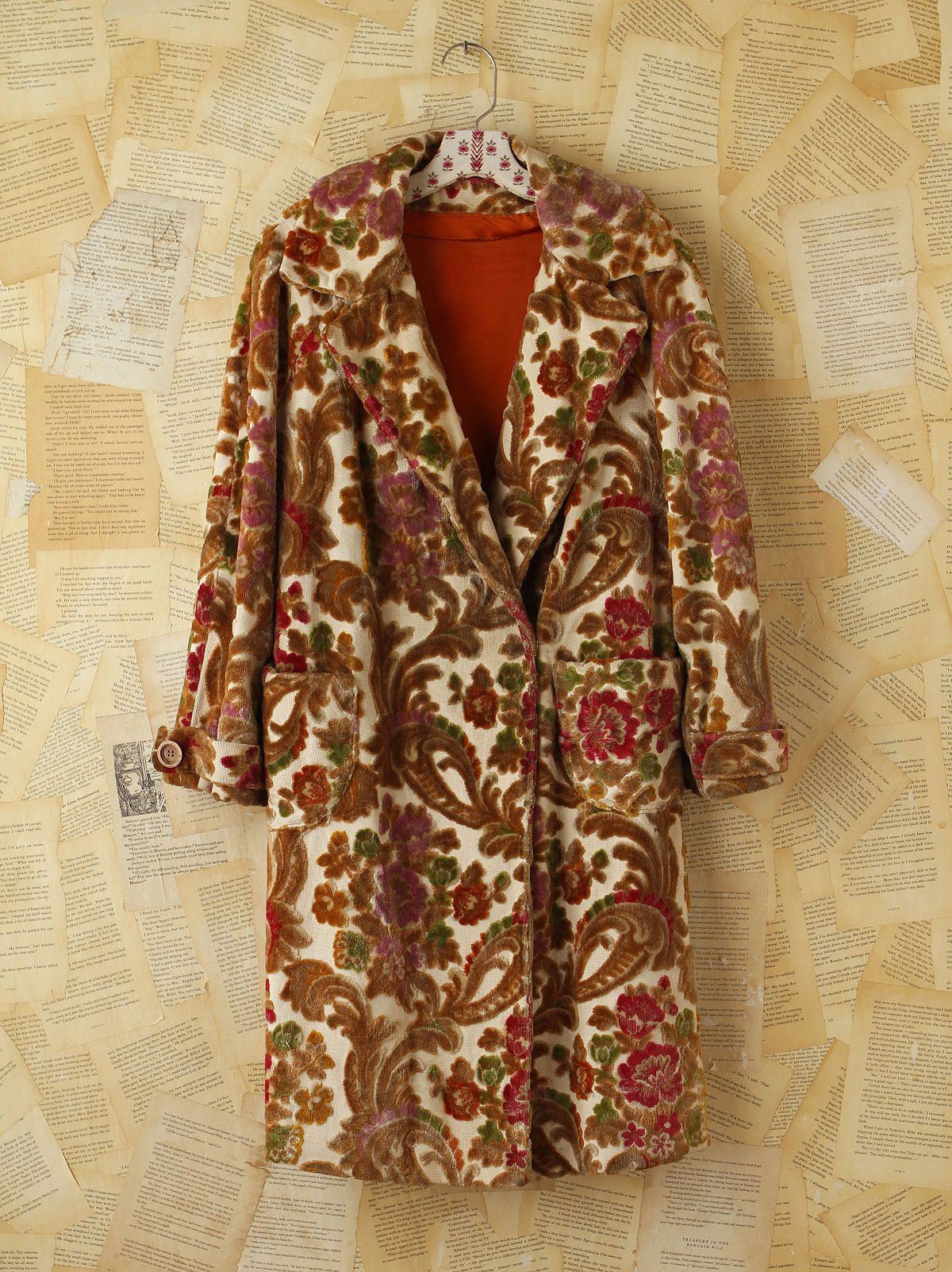 Vintage Floral Patterned Tapestry Coat