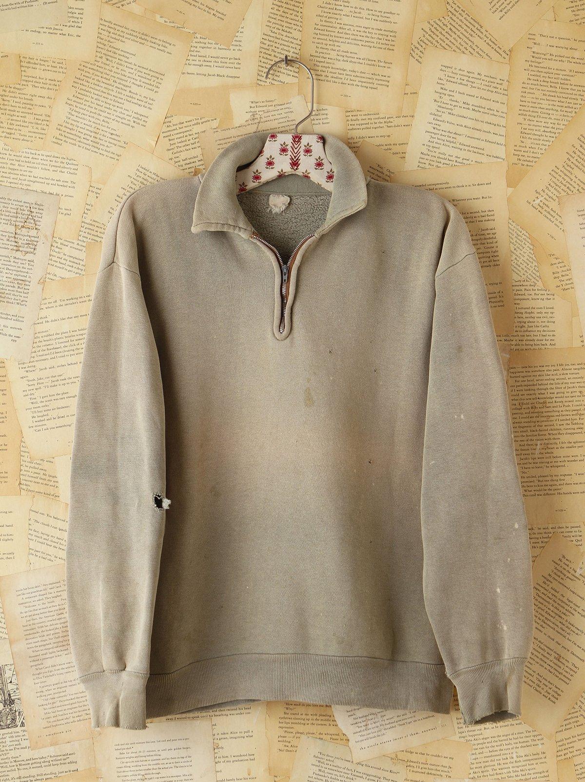 Vintage Faded Green 1950s Sweatshirt