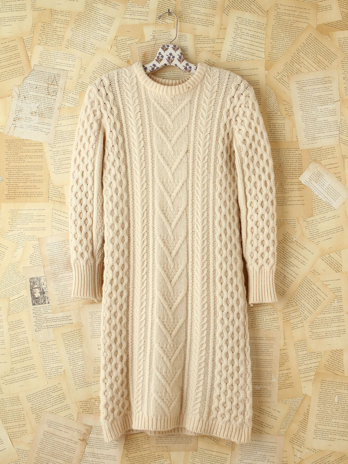 Vintage Maxi Wool Sweater Dress