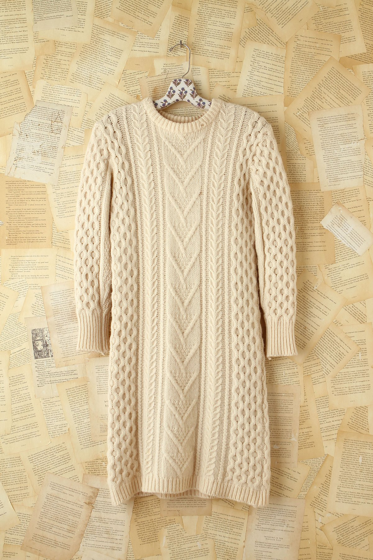 Vintage Maxi Wool Sweater Dress