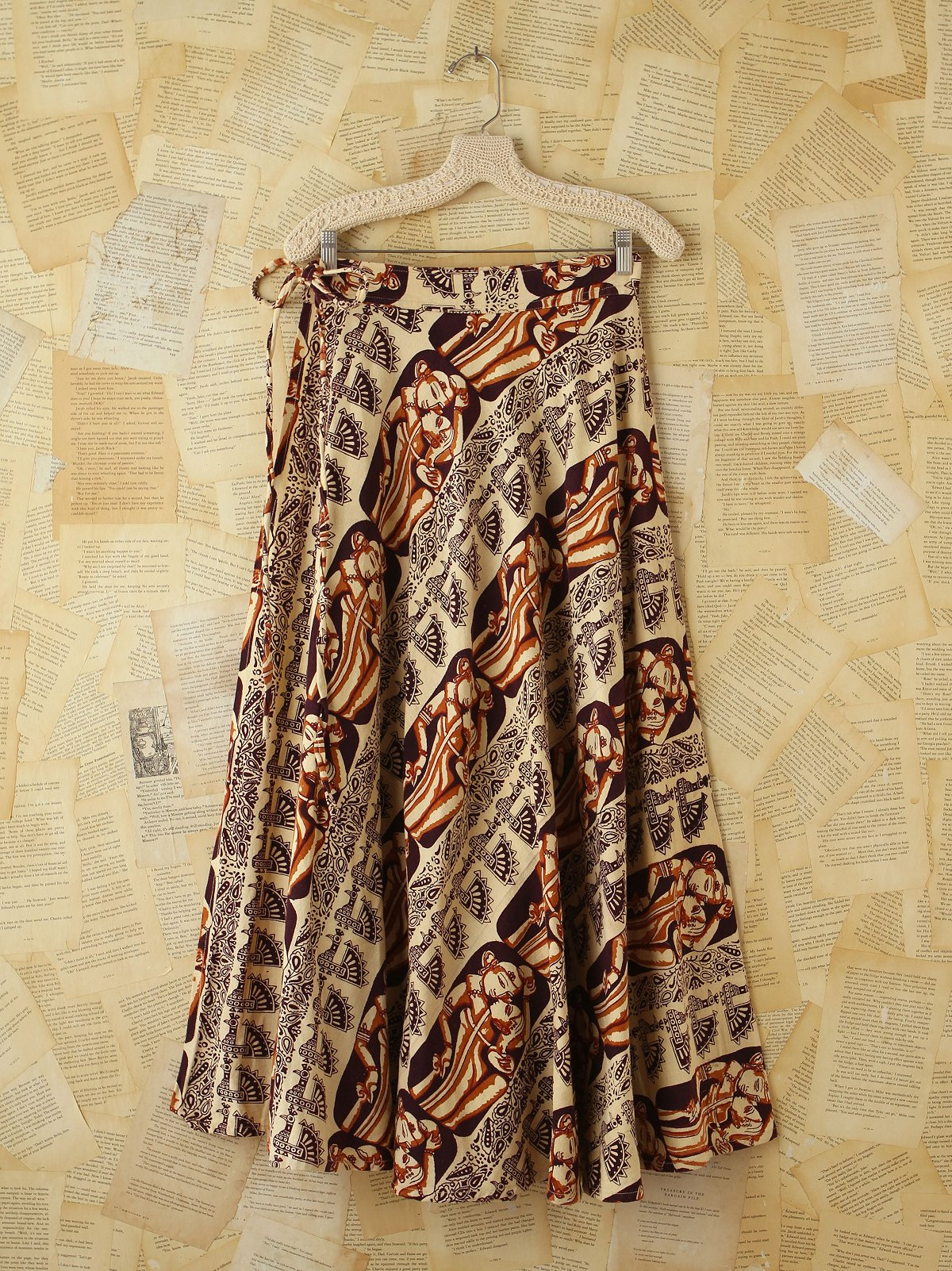 Vintage Tribal Printed Wrap Skirt