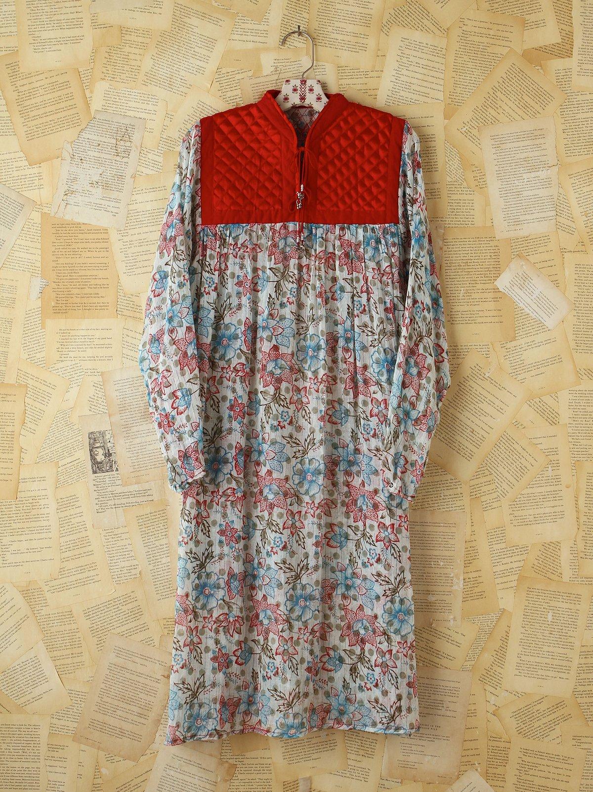 Vintage Floral Printed Boho Dress