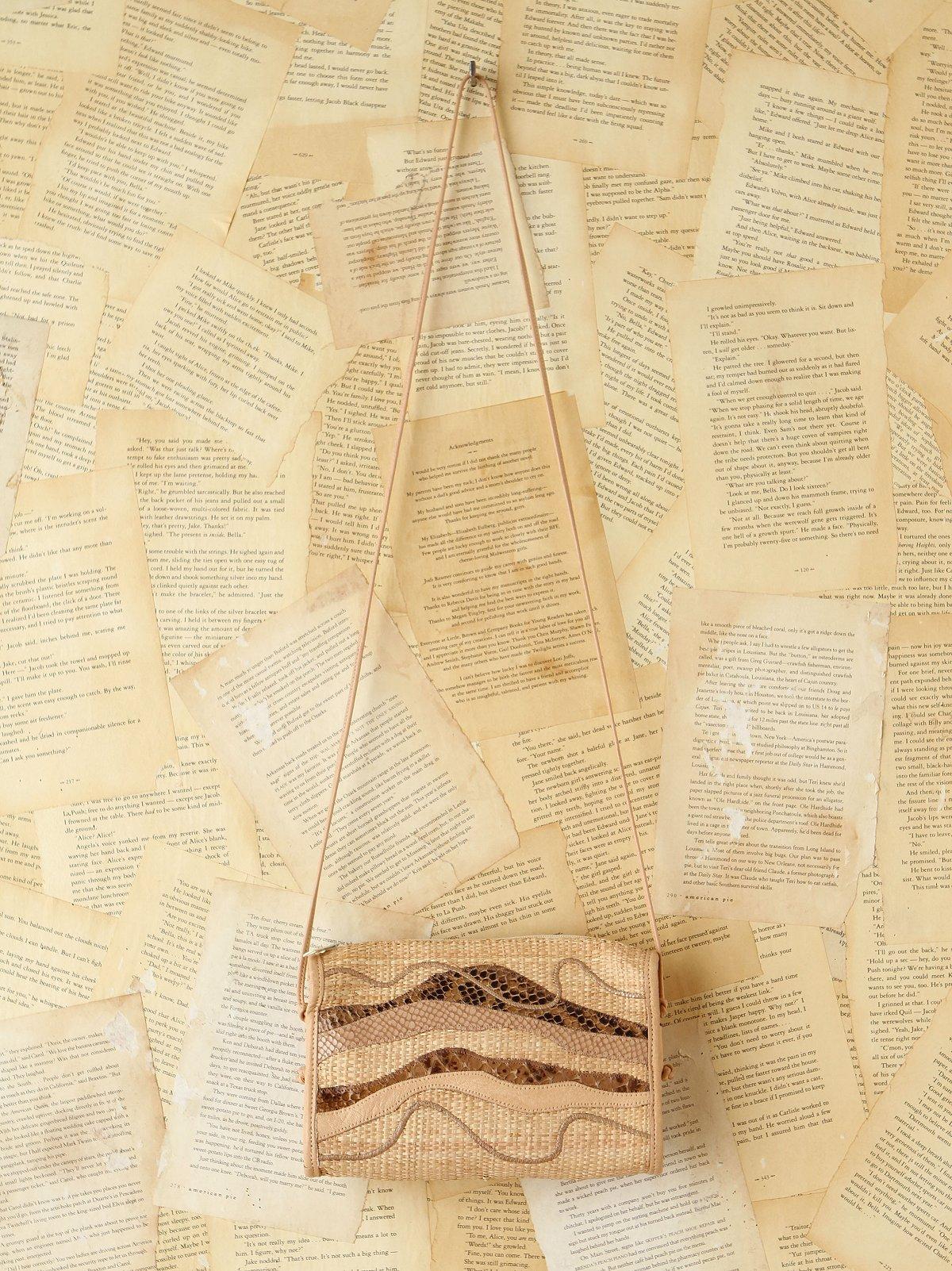 Vintage Carlos Falchi Raffia Bag