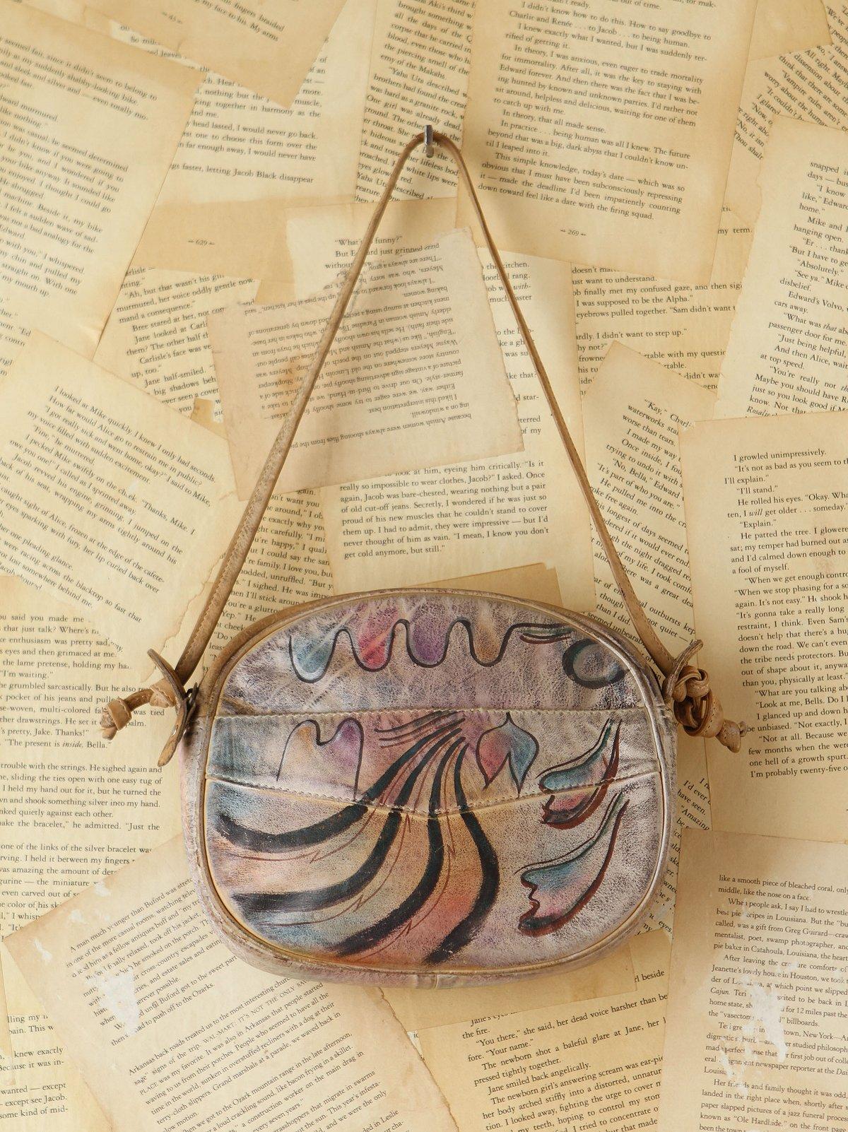 Vintage Handpainted Leather Bag