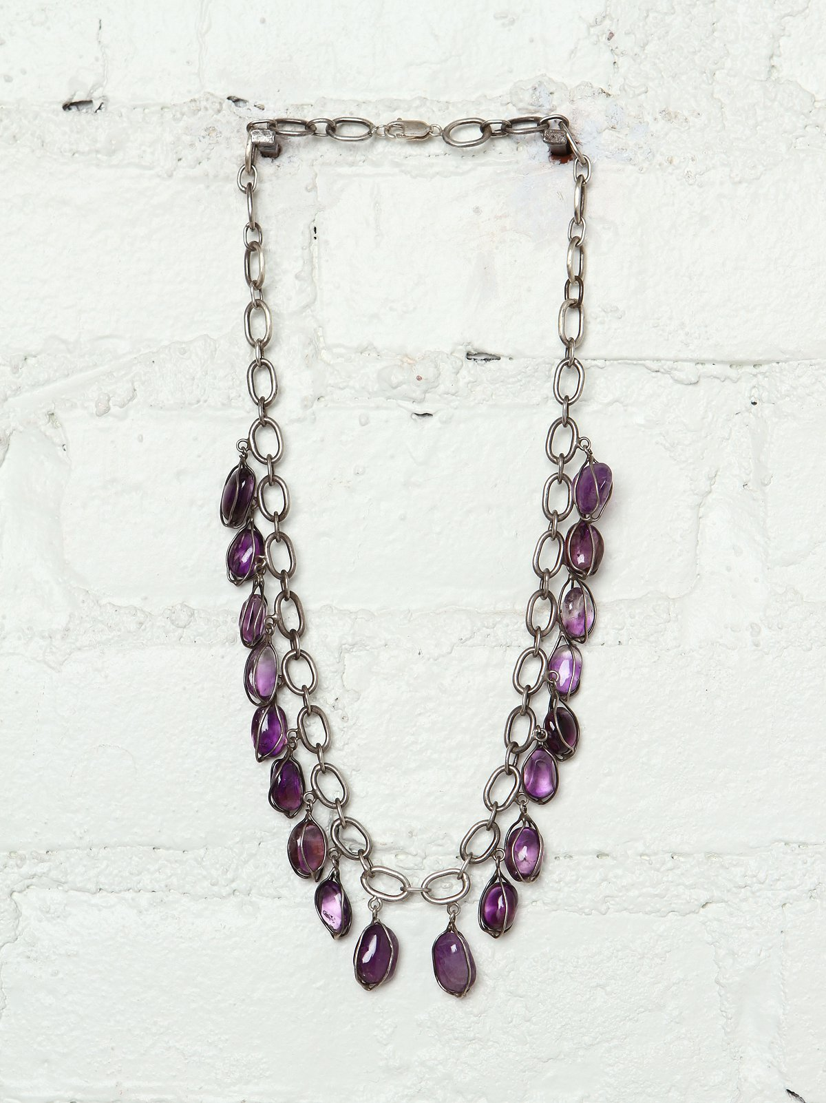 Vintage Purple Crystal Necklace
