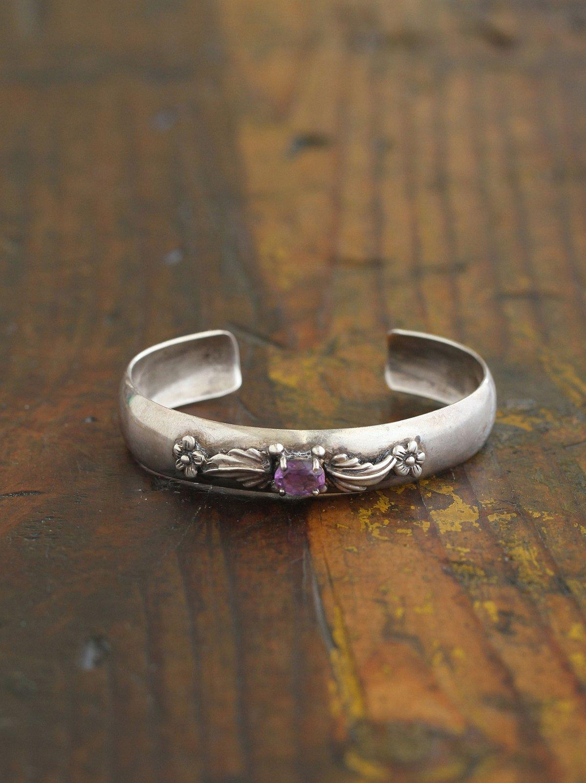 Vintage Purple Stone Cuff