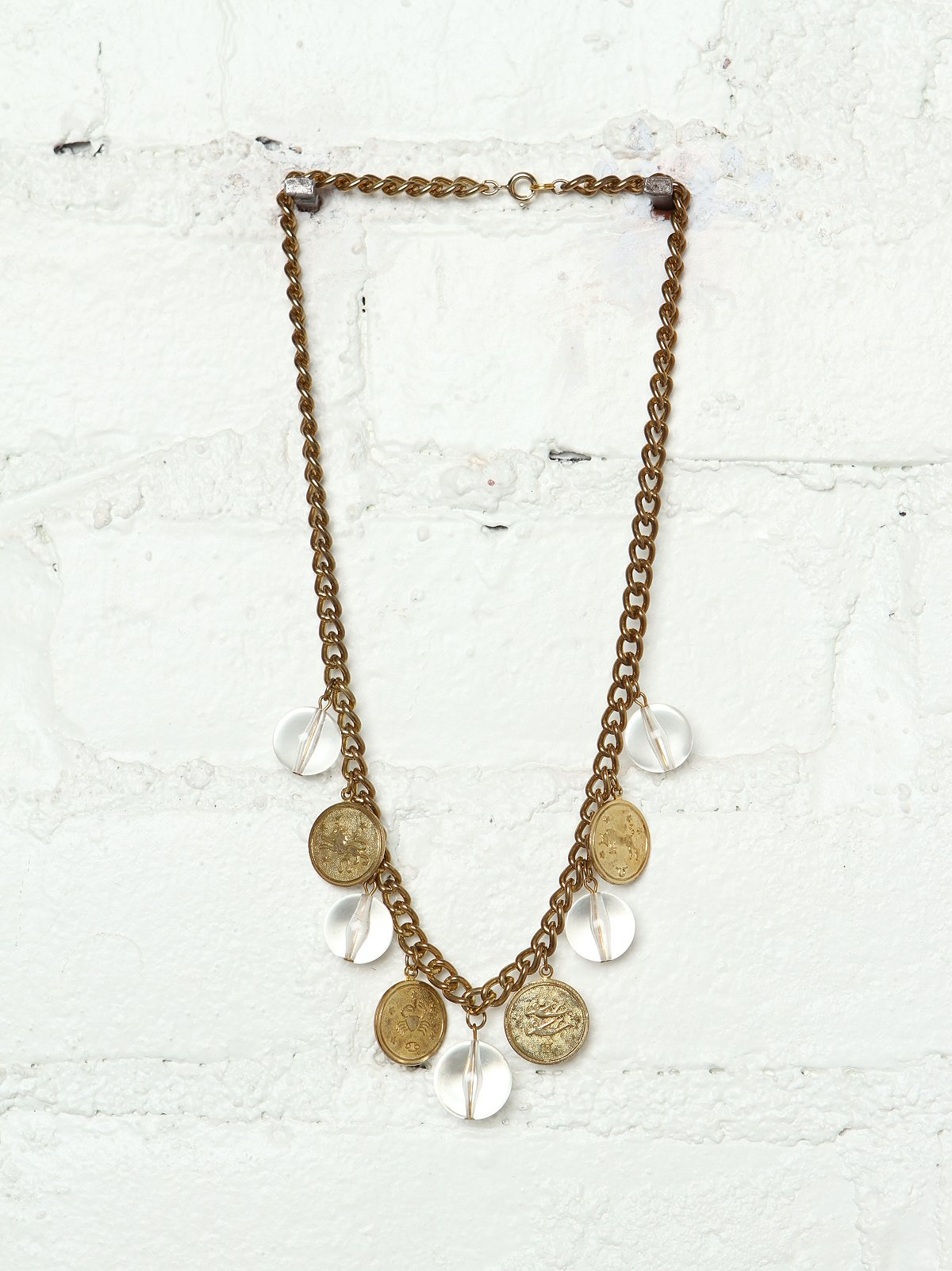 Vintage 1980s Coin Necklace