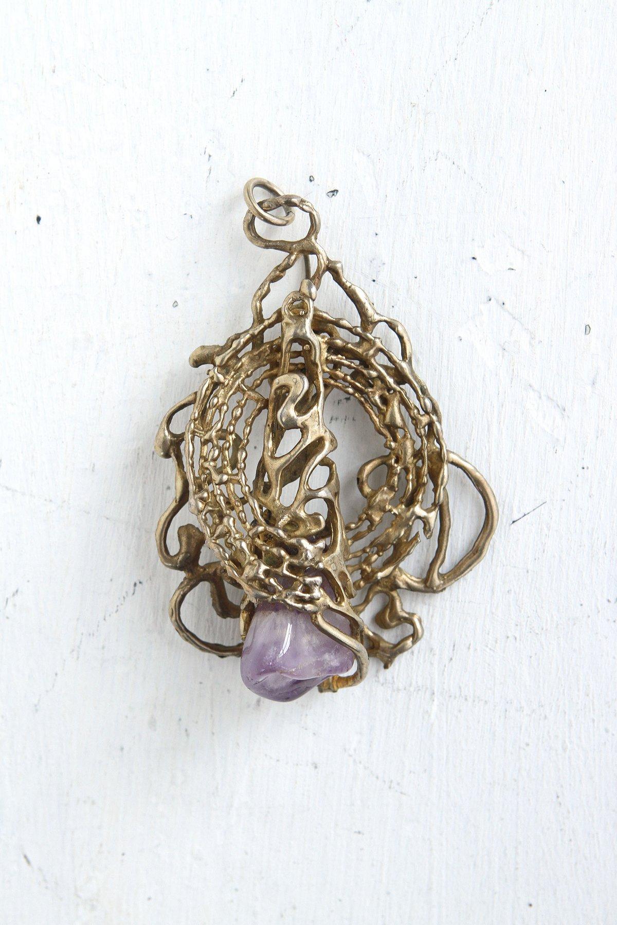 Vintage Purple Crystal Pendant