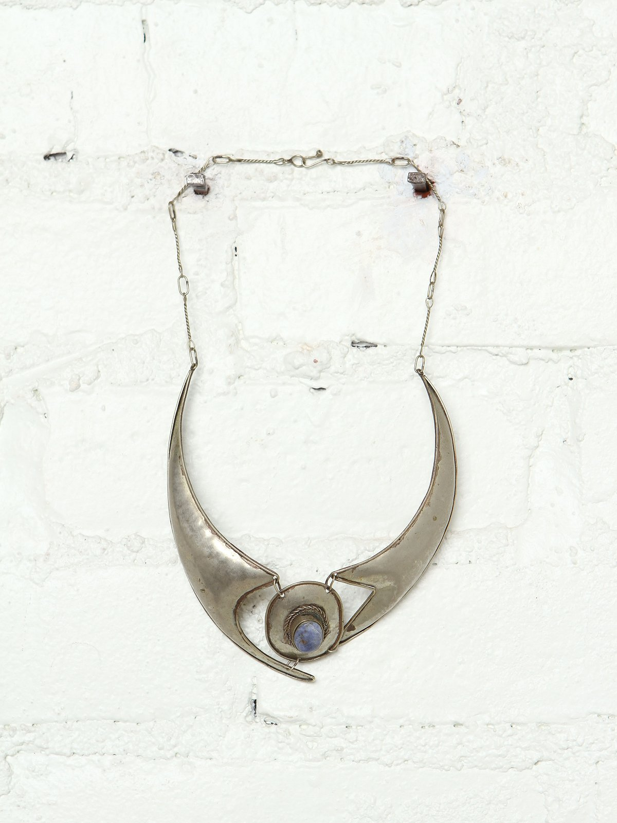 Vintage Distressed Metal Collar Necklace