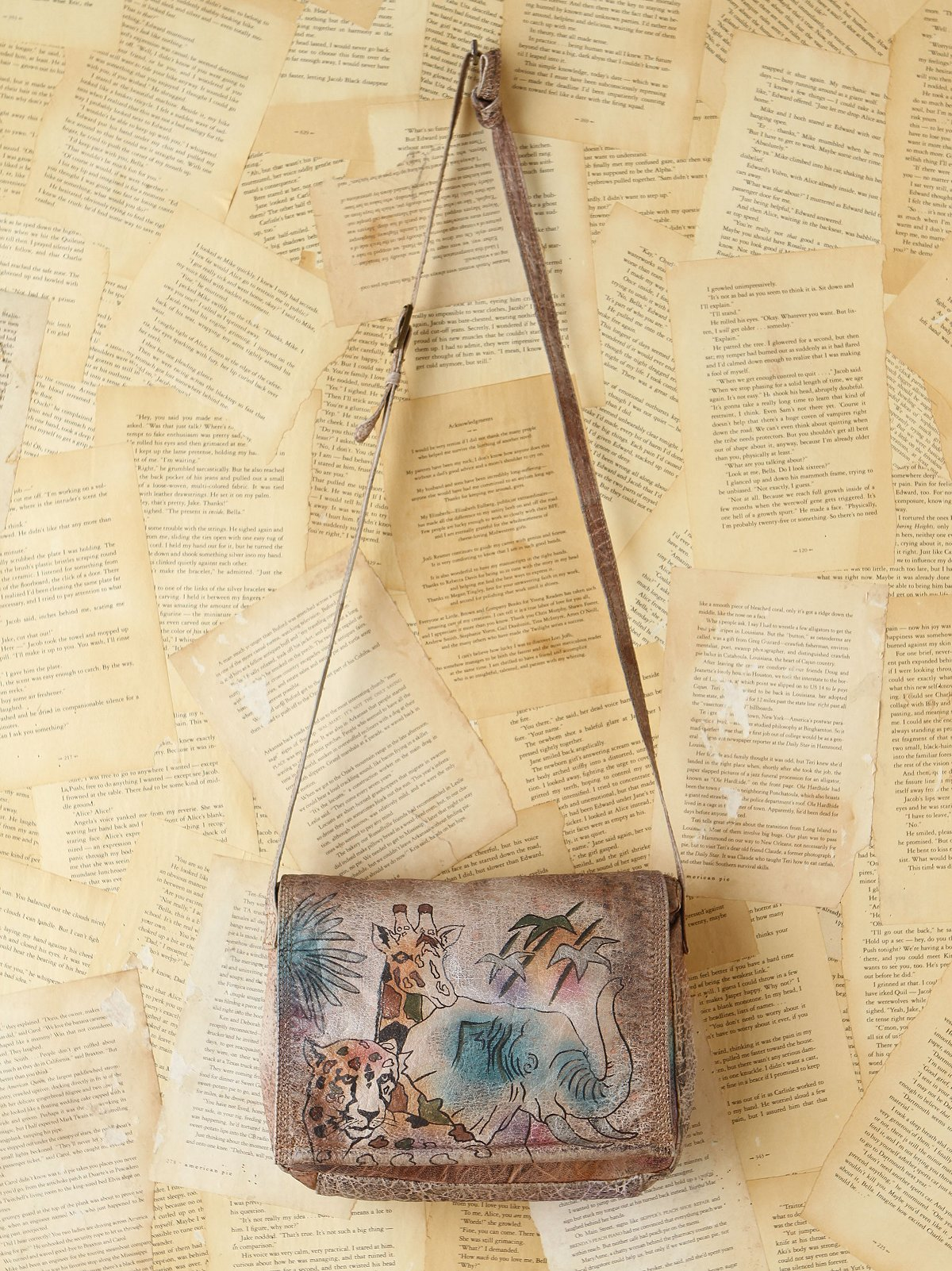 Vintage Handpainted Leather Bag