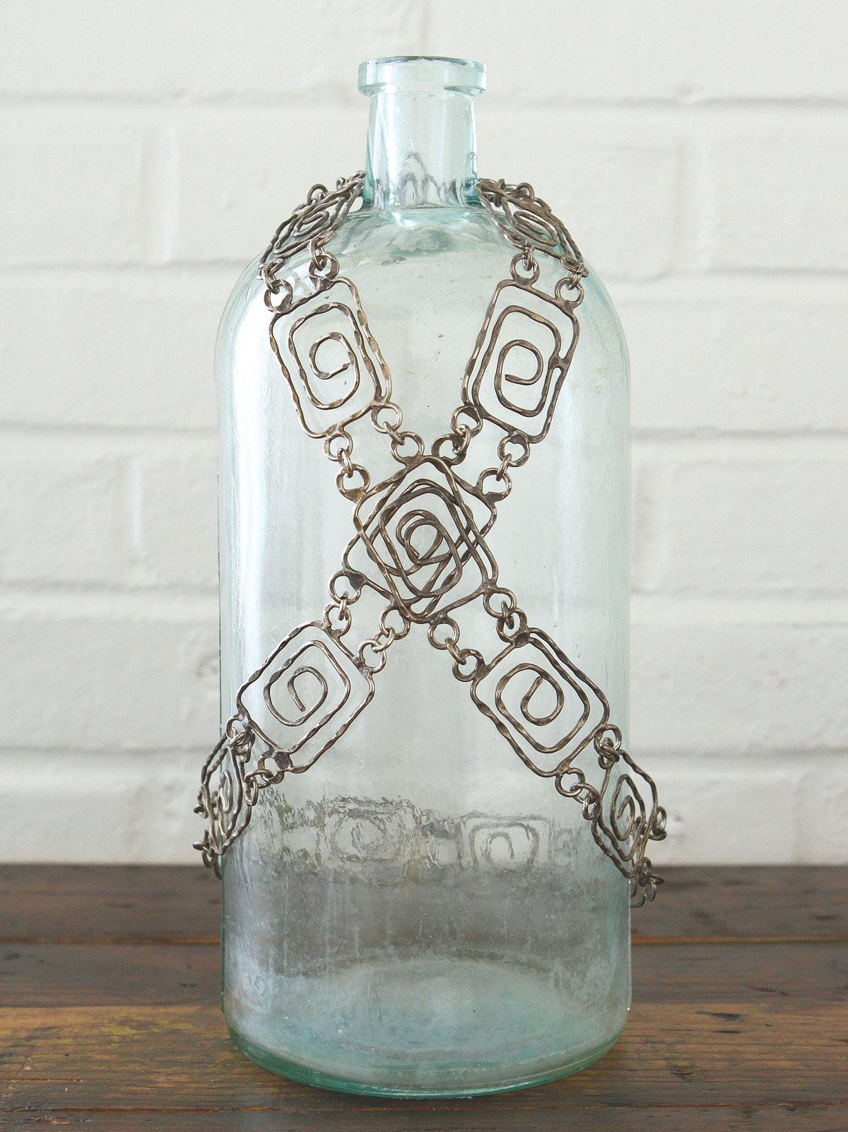 Vintage Pounded Silver Metal Belt