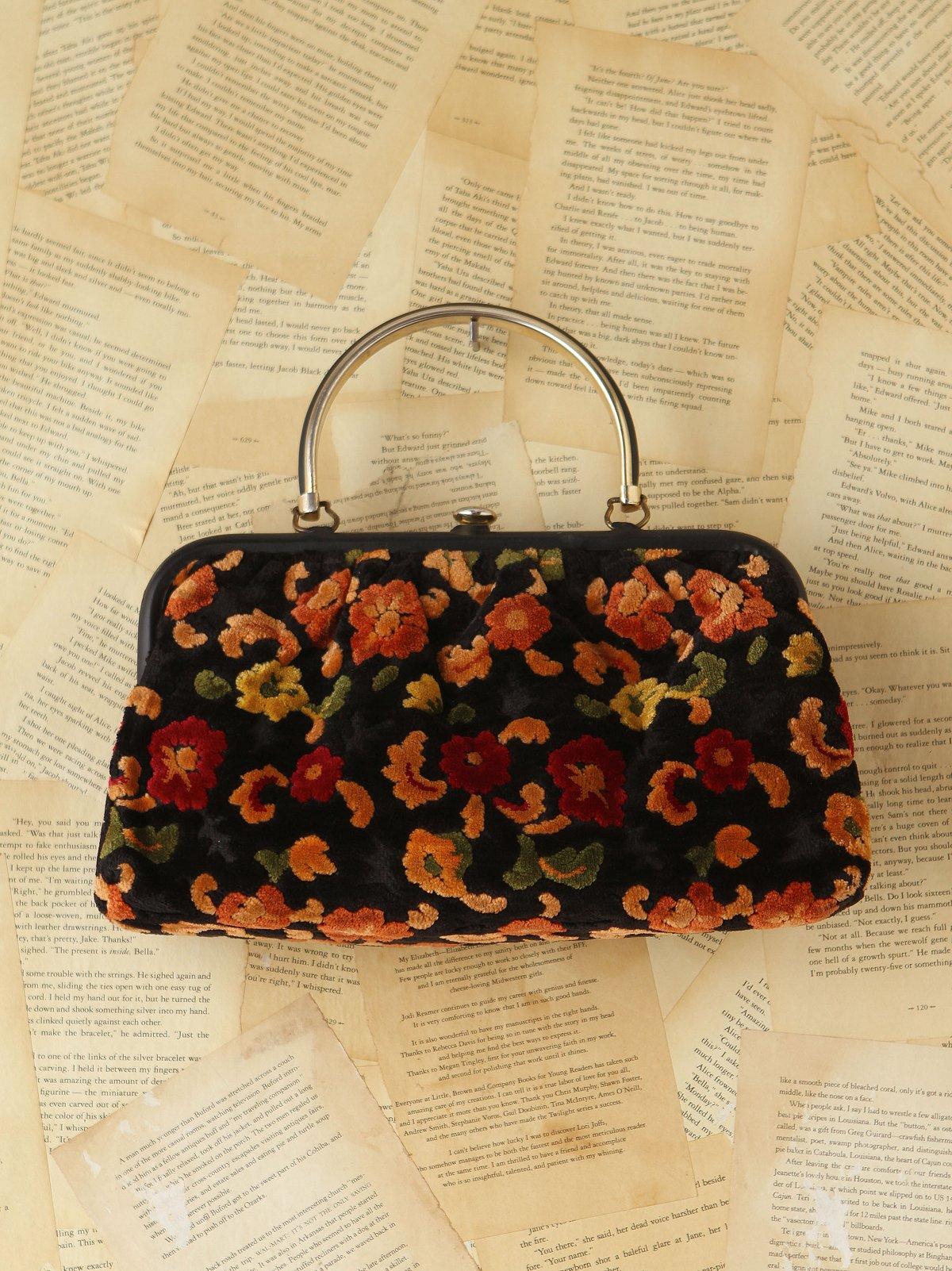 Vintage Floral Tapestry Purse
