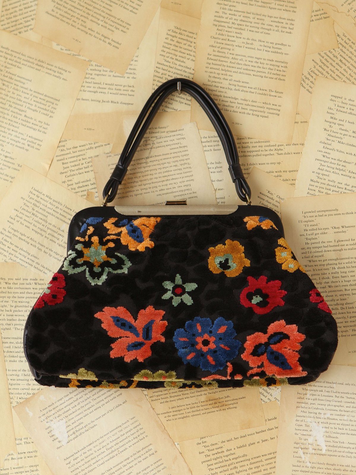Vintage Patterned Tapestry Bag