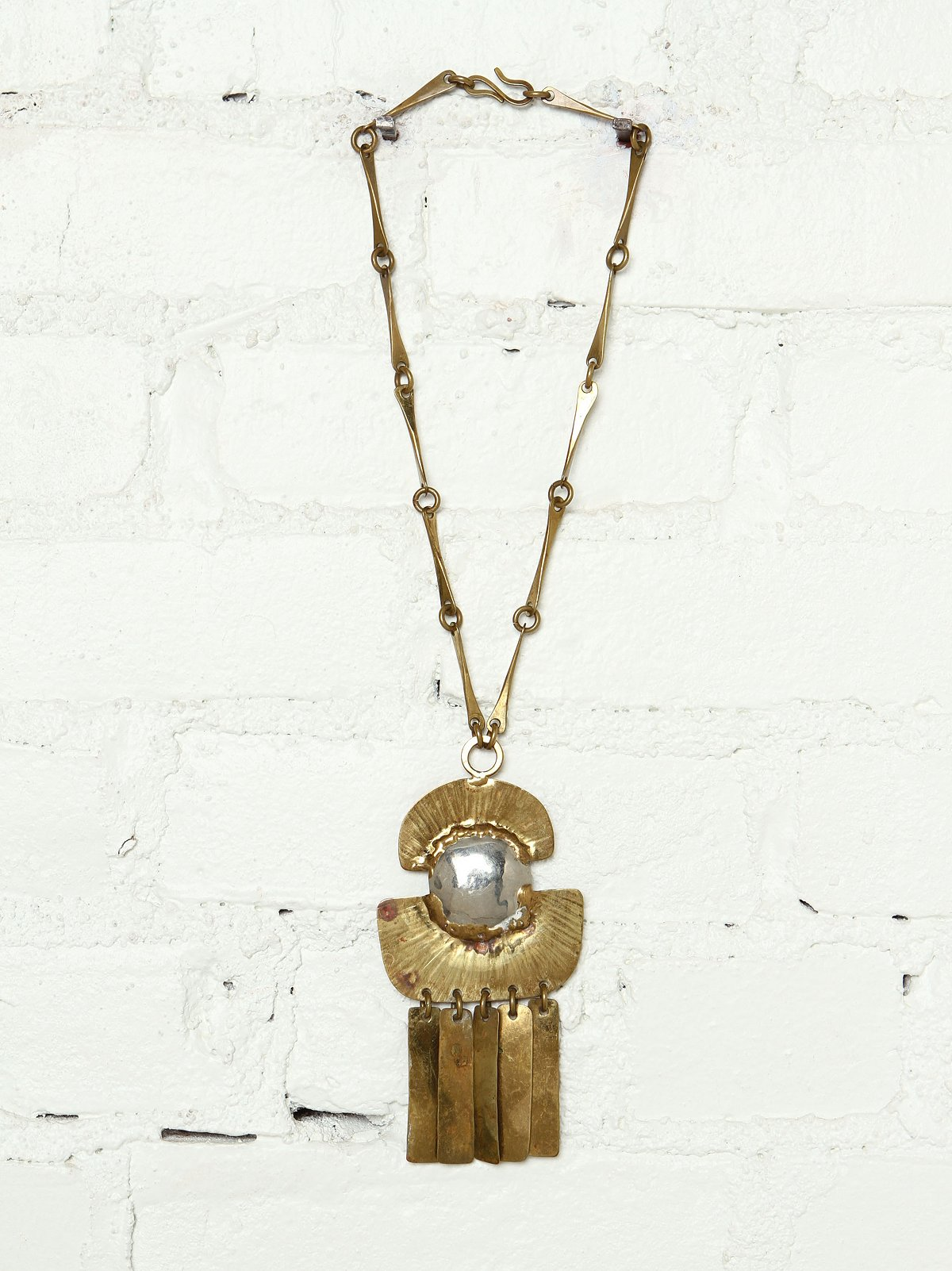 Vintage 1980s Chain and Tassel Necklace