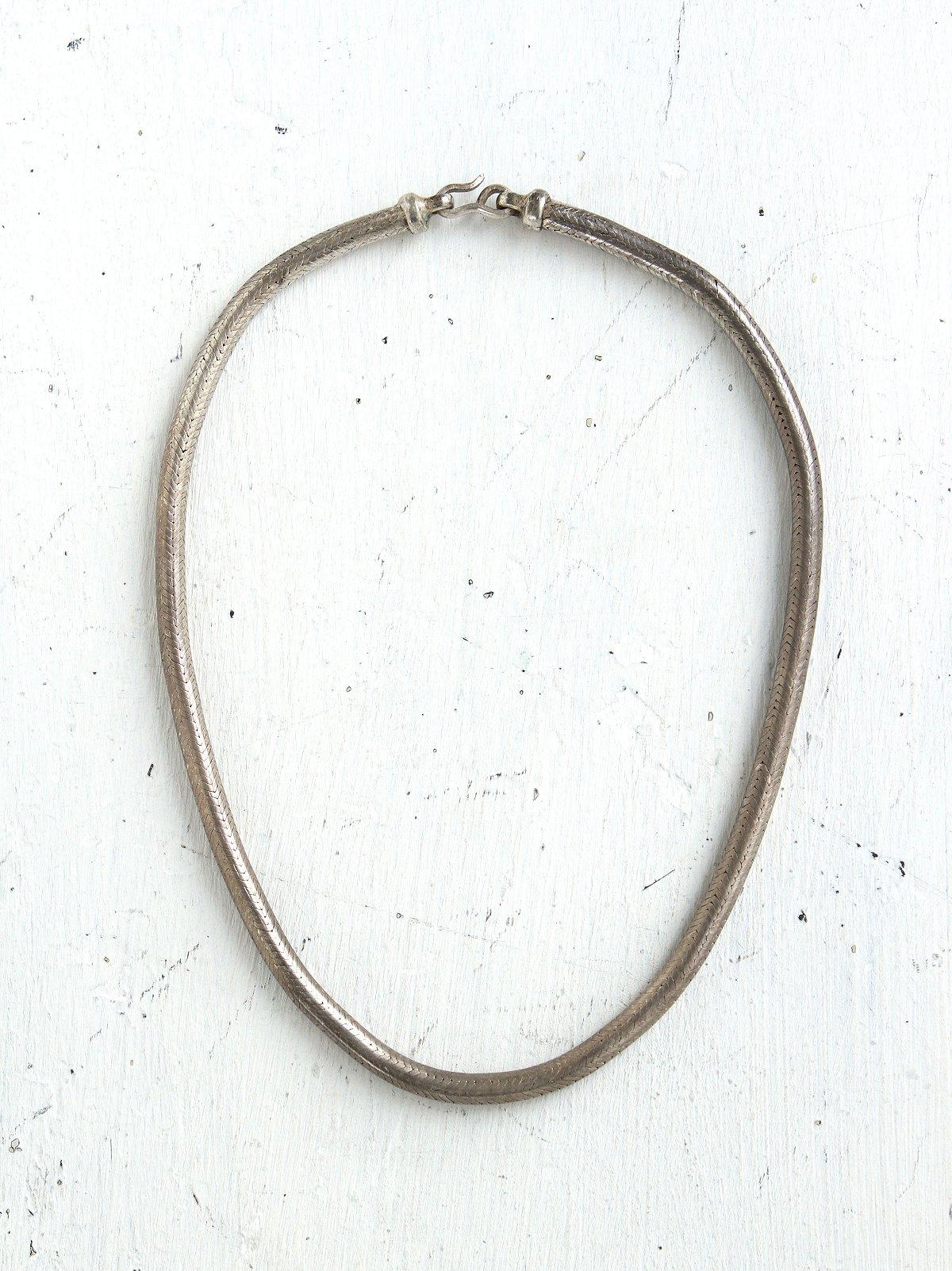 Vintage Silver Choker Necklace