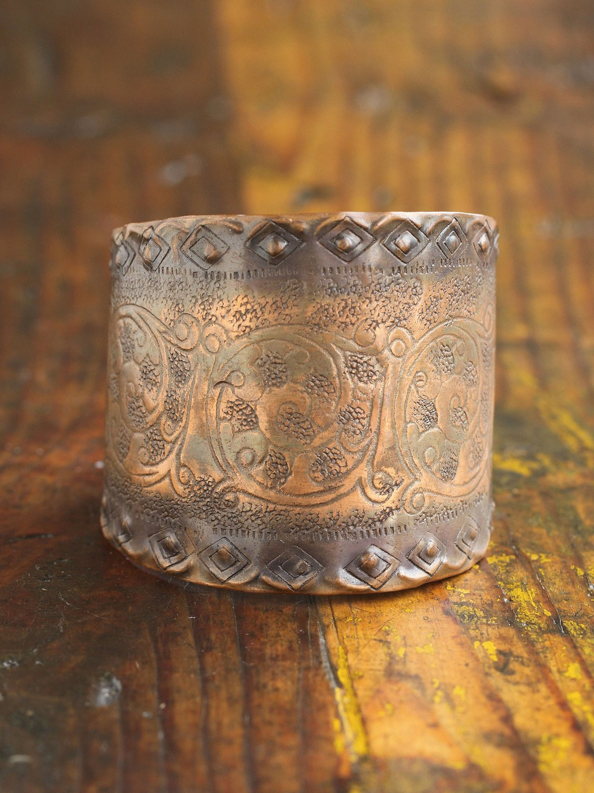 Vintage Pounded Copper Cuff