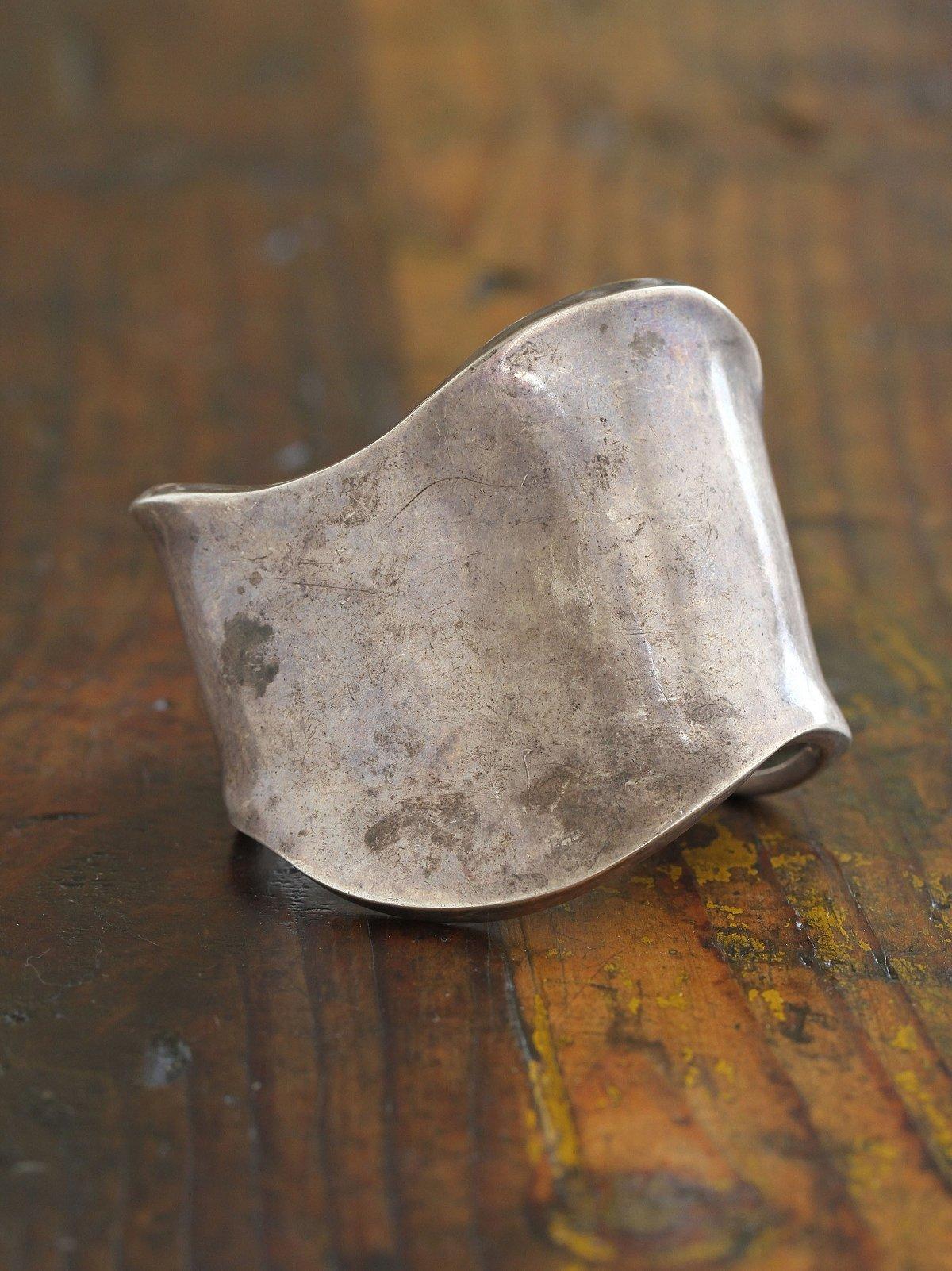 Vintage Silver Metal Cuff