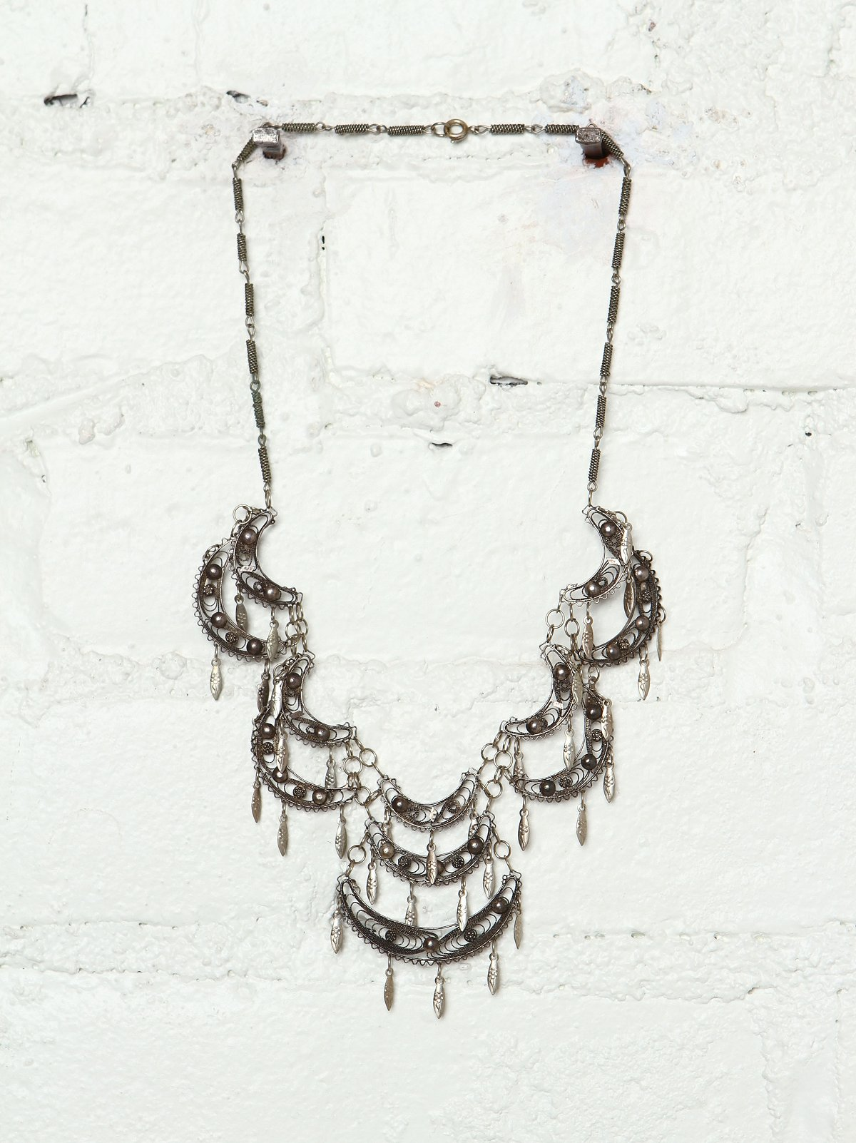 Vintage Tiered Metal Necklace