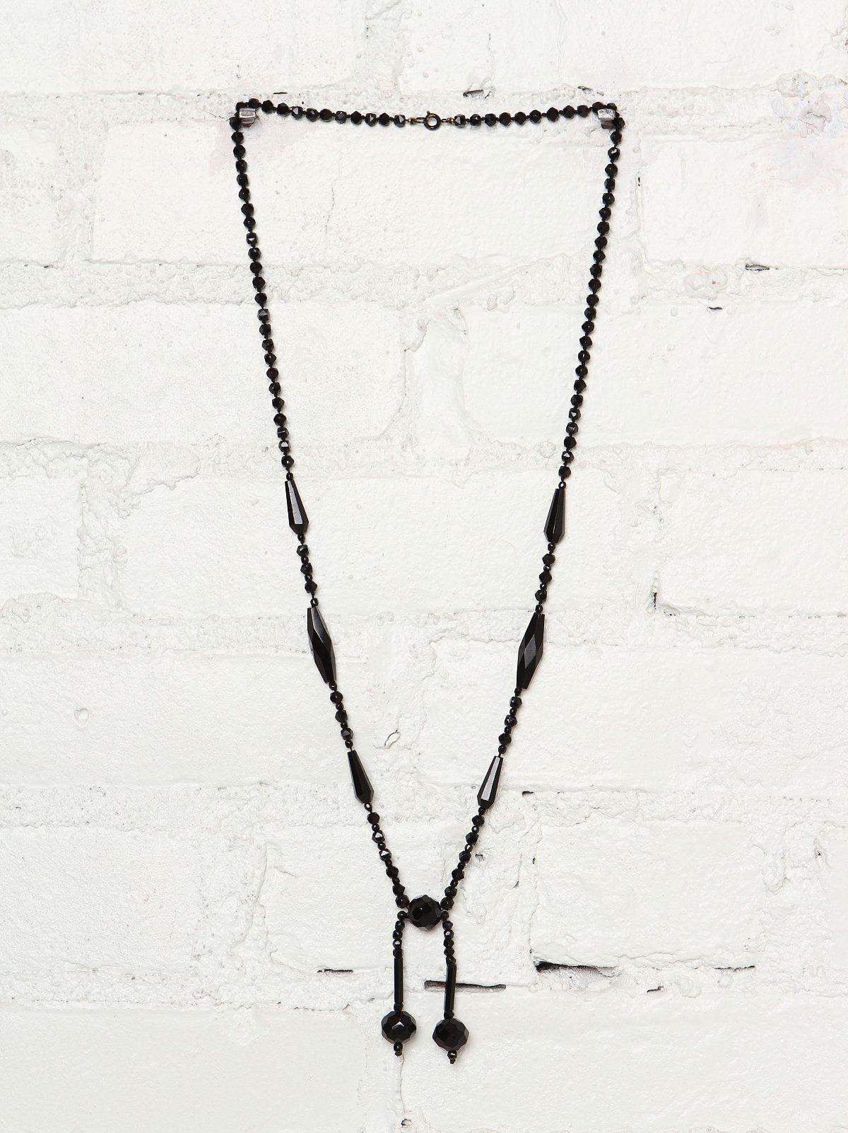 Vintage Black Beaded Rosary